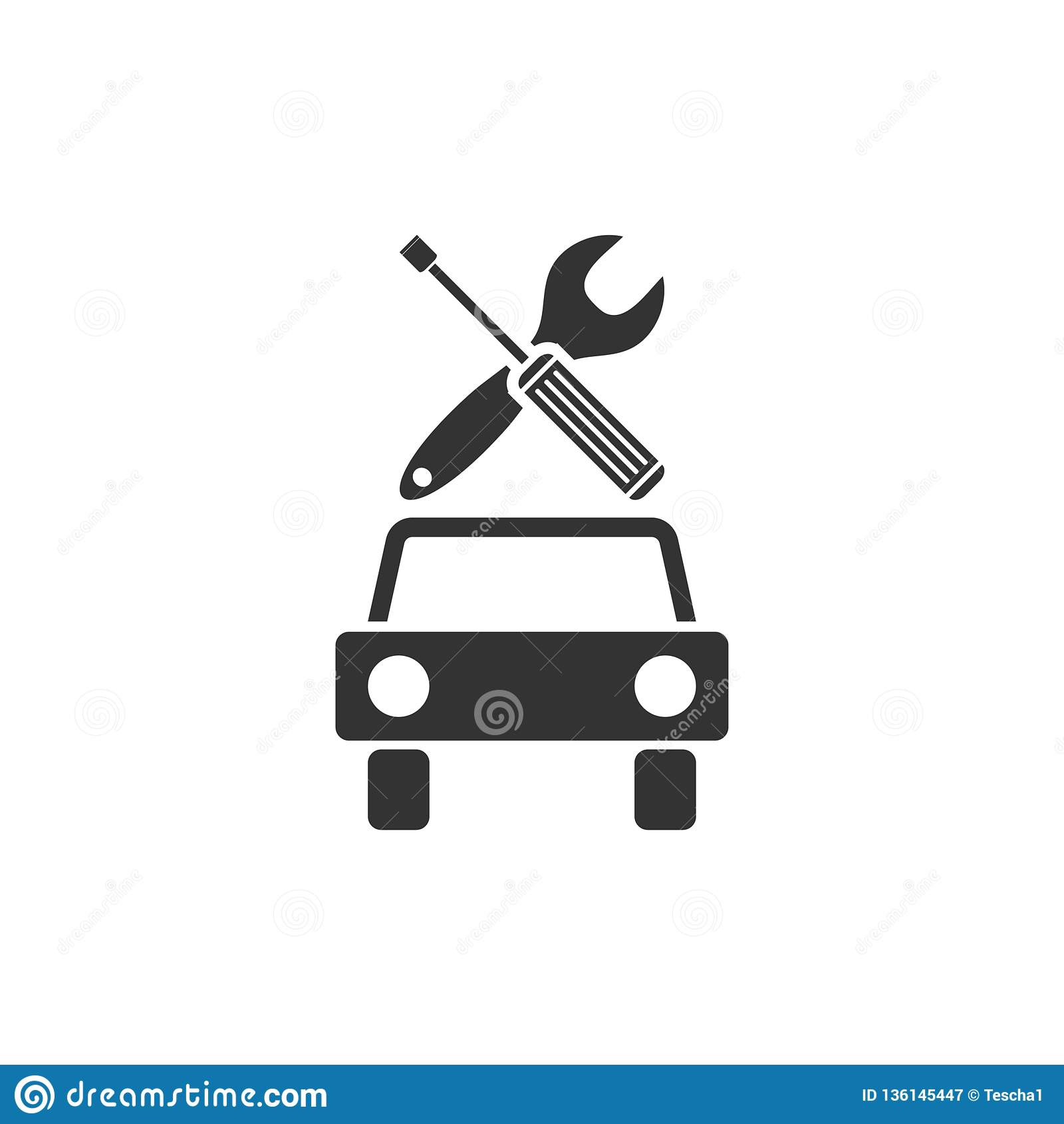 Icona di servizio dell automobile pianamente