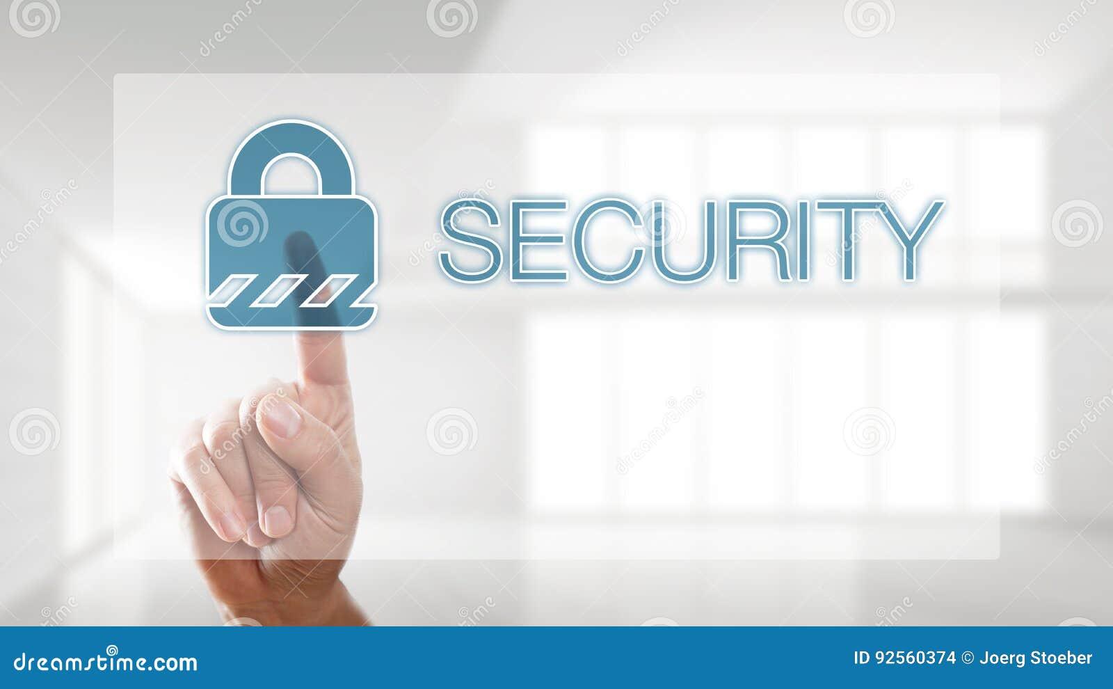Icona di sicurezza di stampaggio a mano