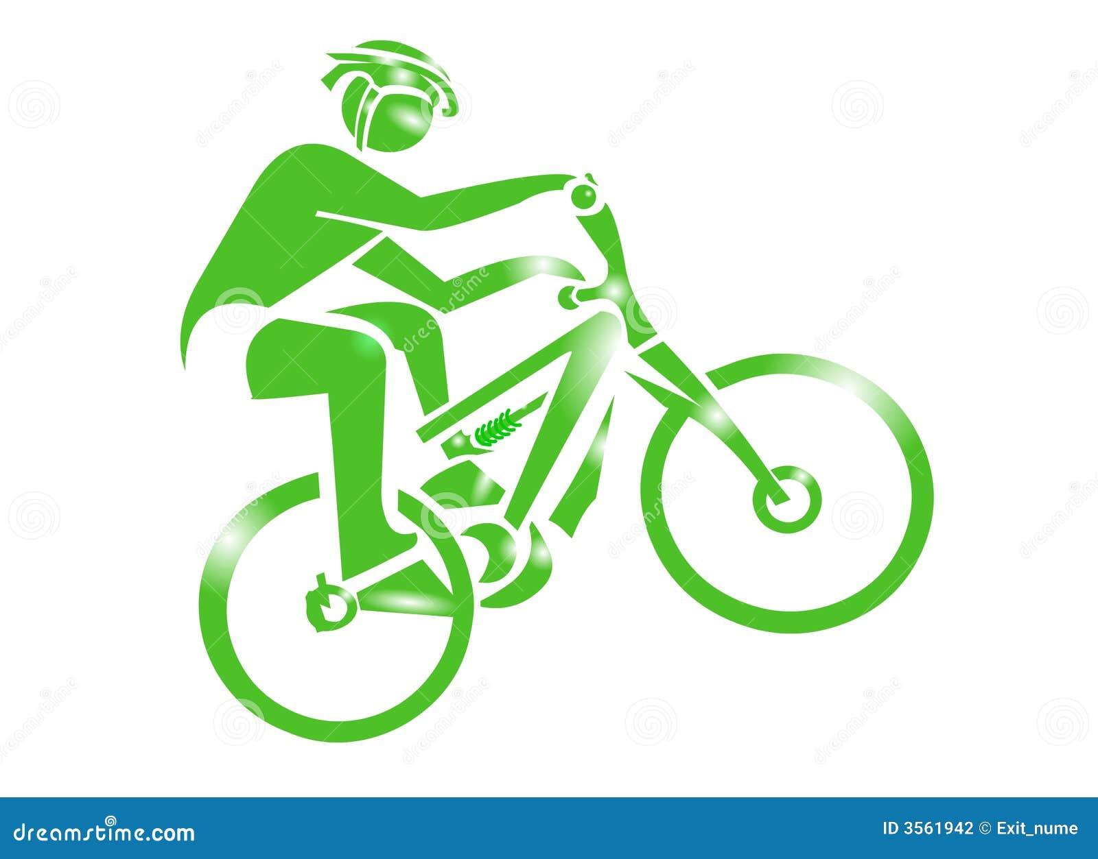 Icona di sport della bici di montagna