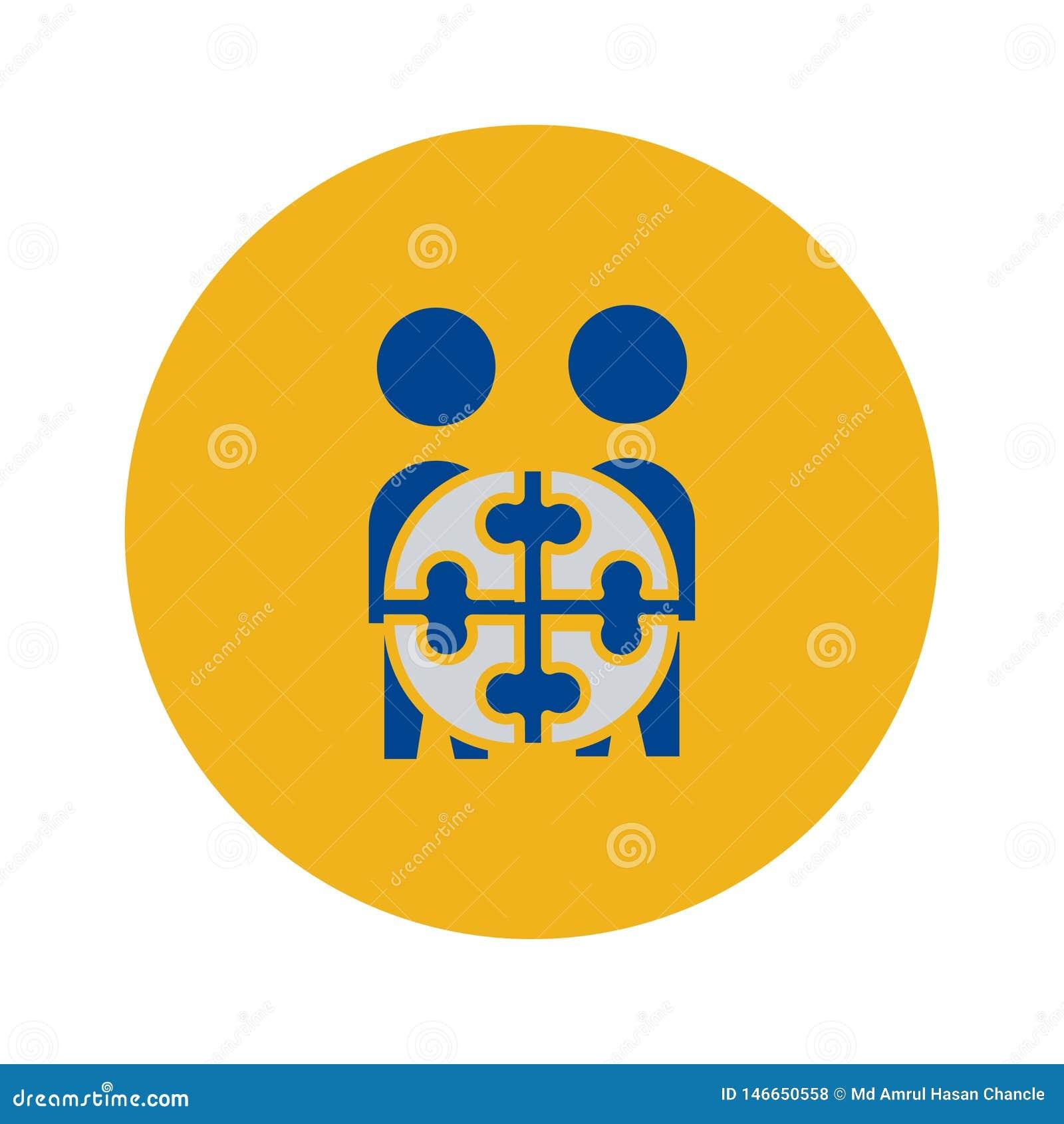 Icona di Team Project simbolo del segno di vettore