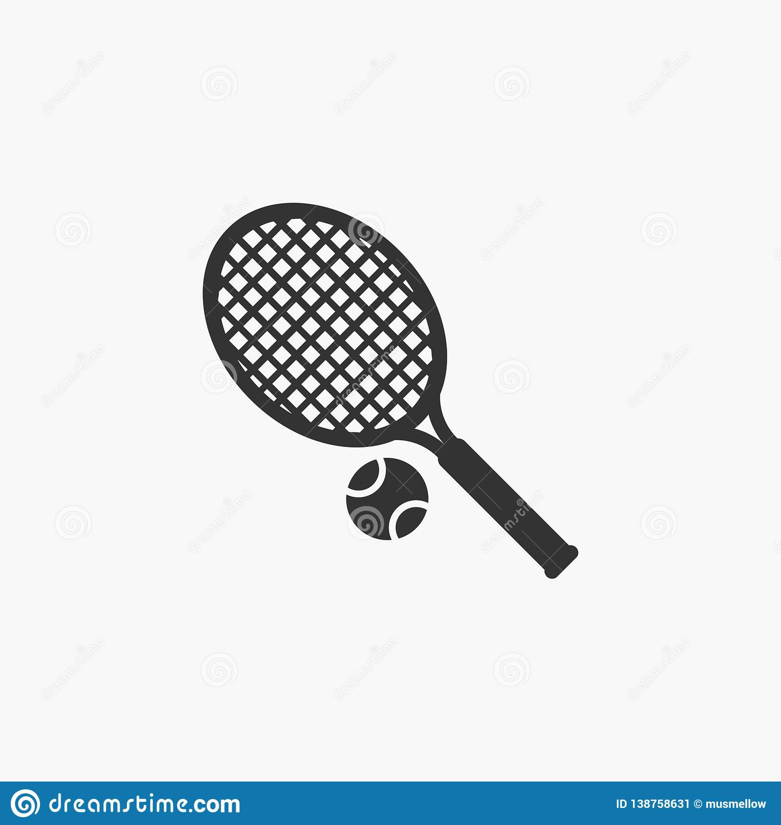 Icona di tennis, sport, gioco, tennis di prato inglese