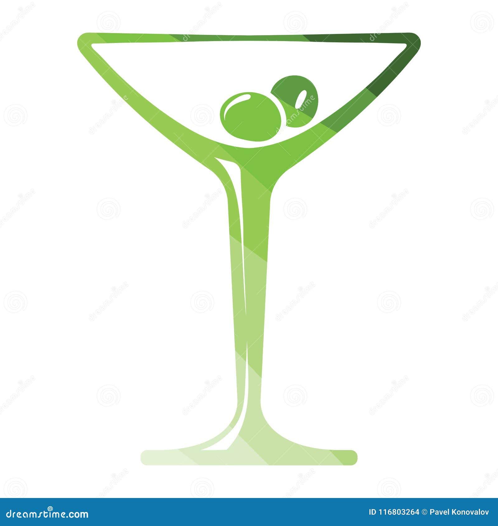 Icona di vetro di cocktail
