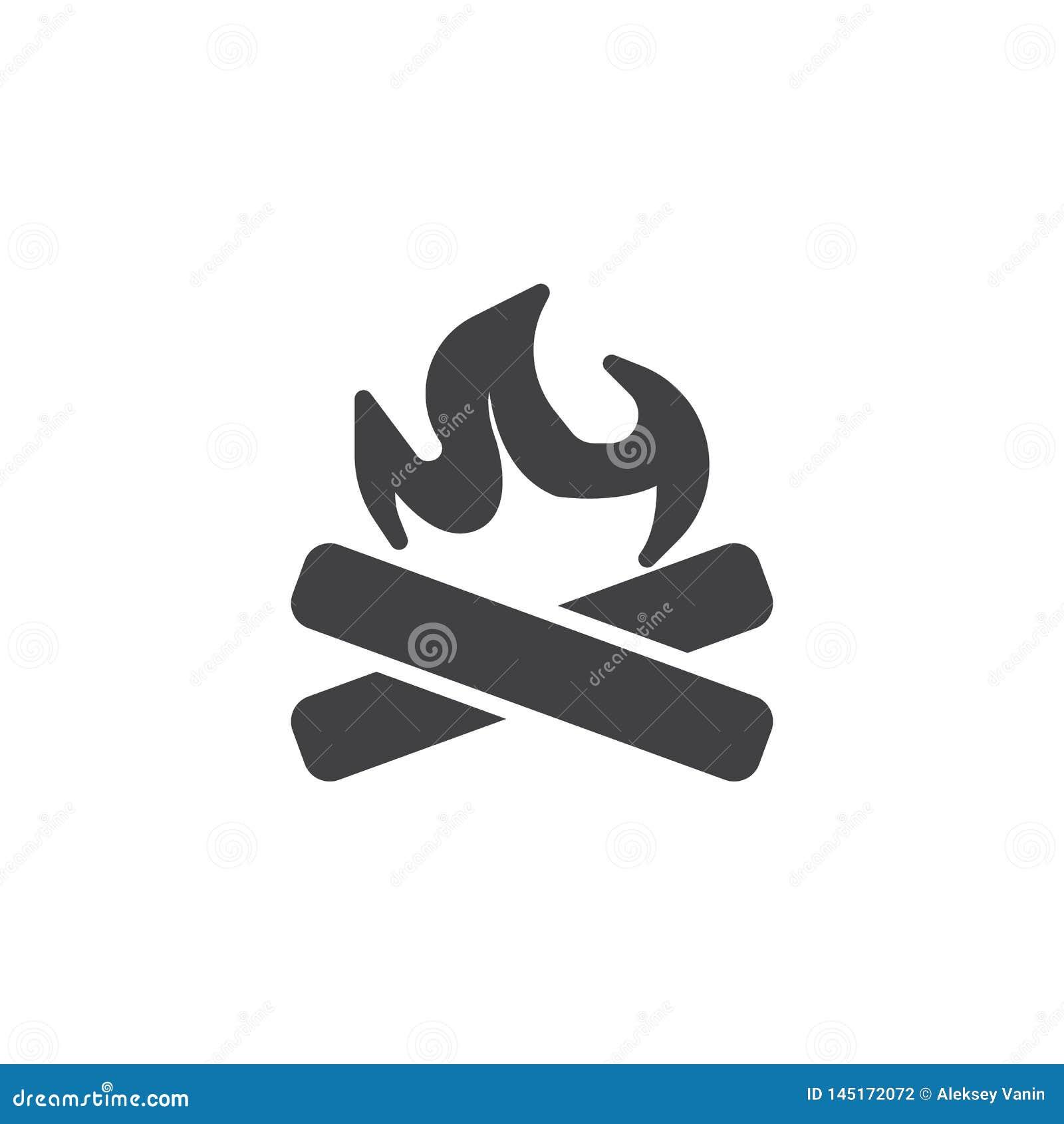 Icona di vettore del fuoco del campo