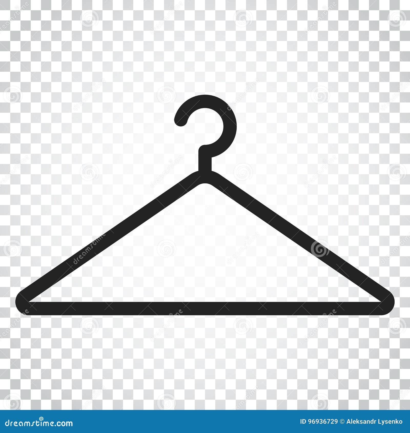 Icona di vettore del gancio Illustrazione piana del hander del guardaroba Bu semplici