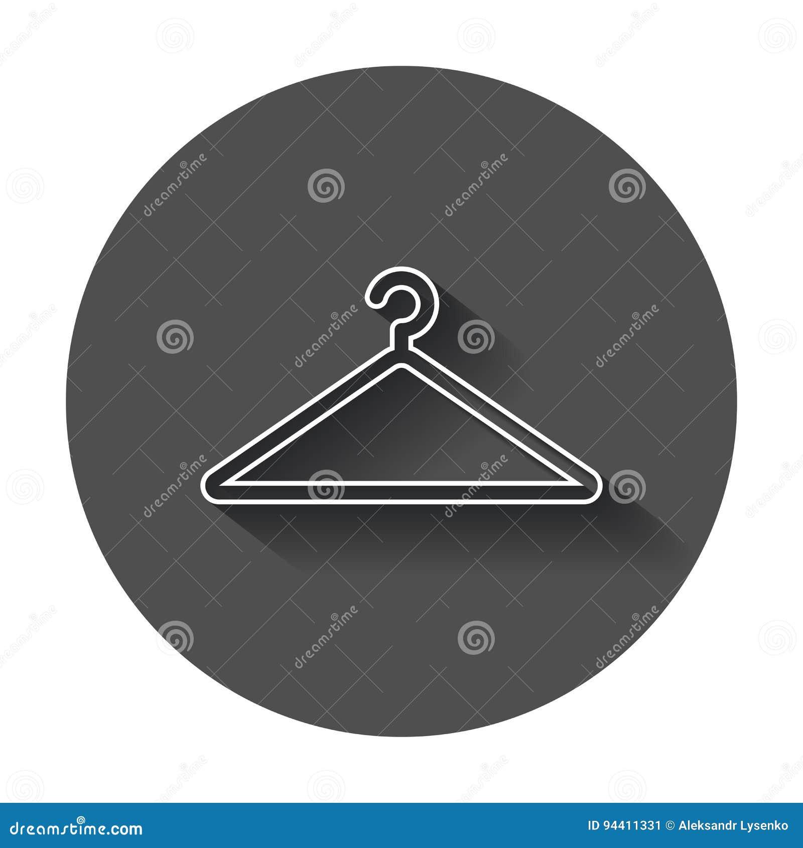 Icona di vettore del gancio nella linea stile Gancio del guardaroba