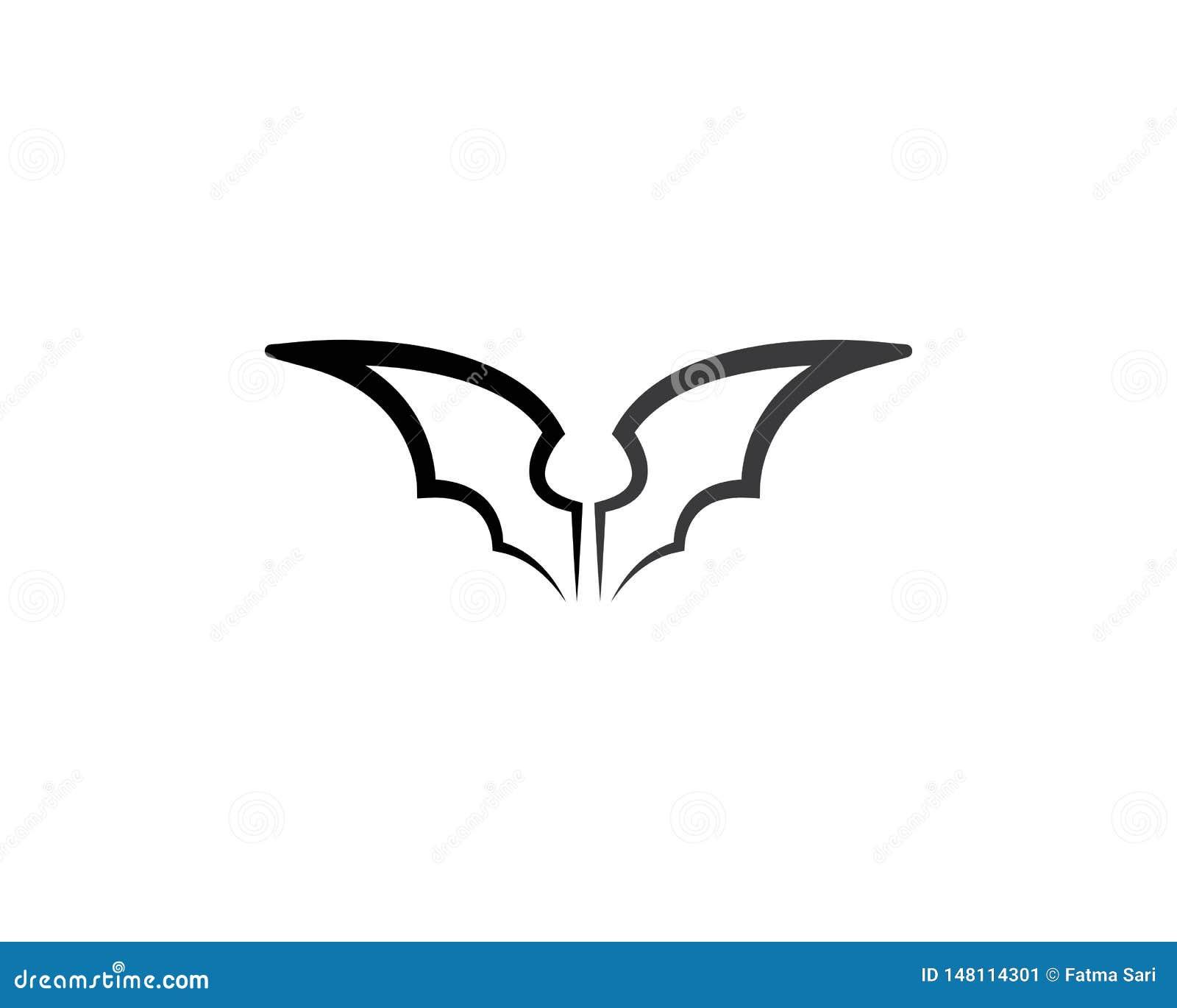Icona di vettore del pipistrello