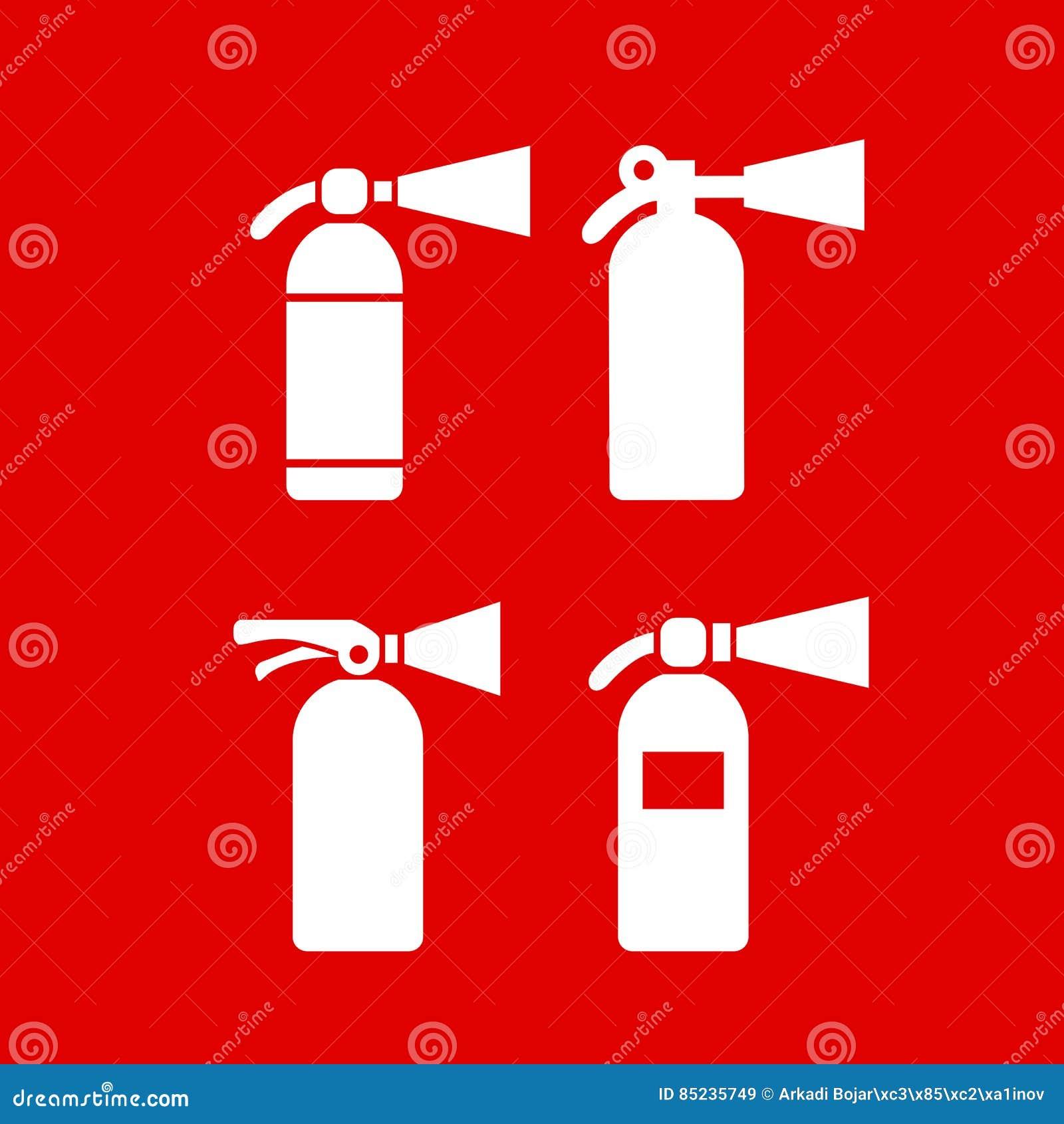 Icona di vettore dell estintore di protezione antincendio