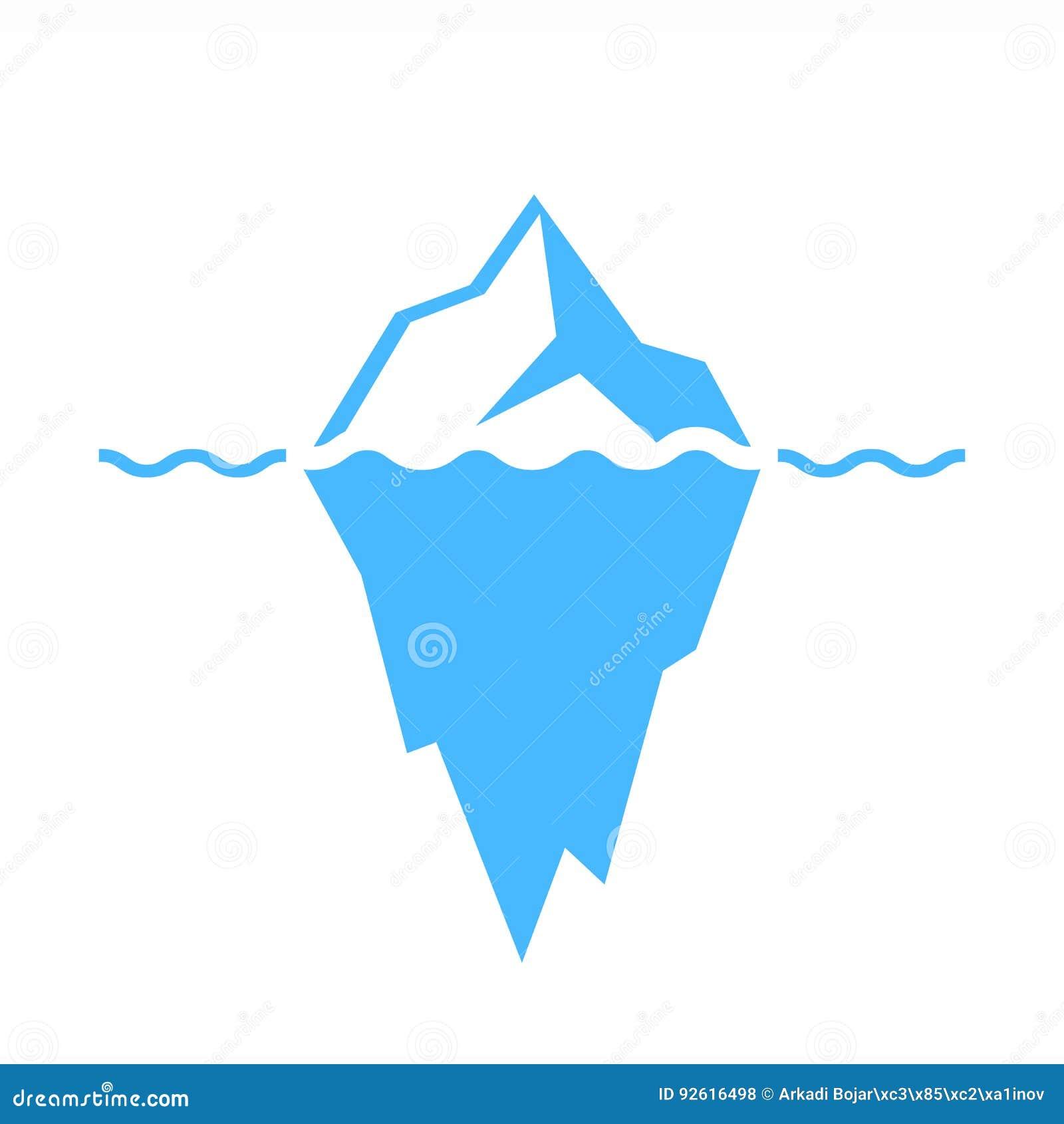 Icona di vettore dell iceberg