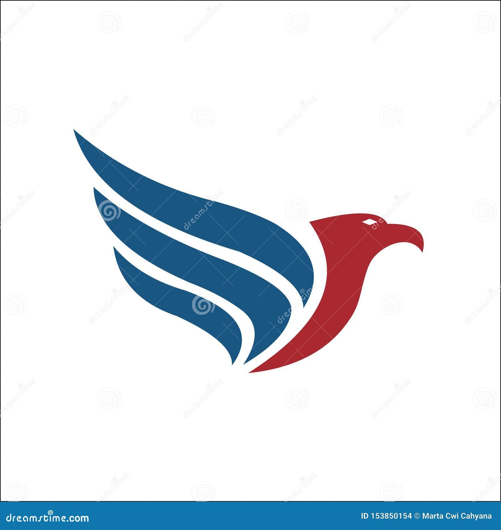 Icona di vettore di Eagle Bird Logo Template del falco