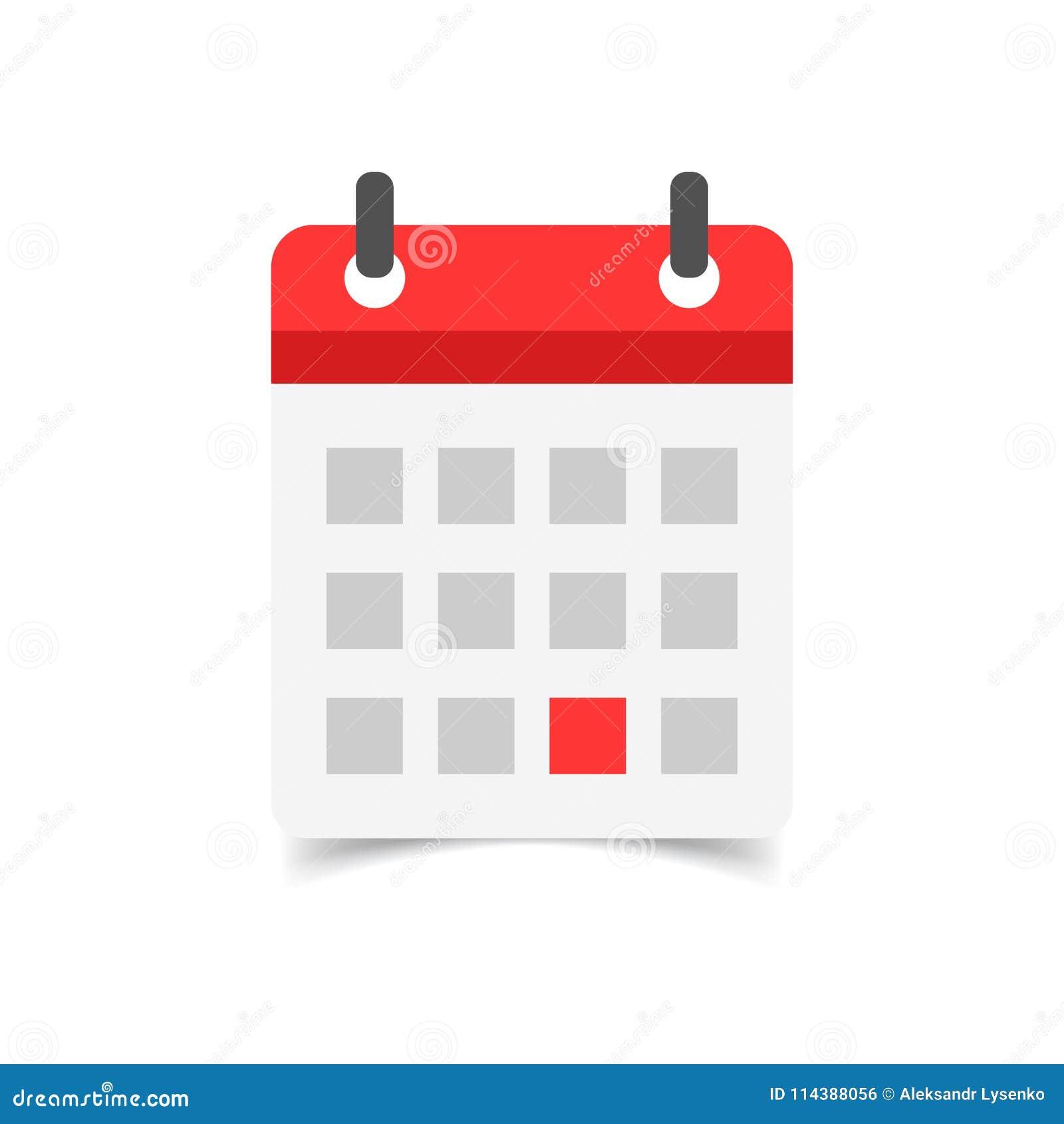 Calendario Icona.Icona Di Vettore Di Ordine Del Giorno Del Calendario Nello