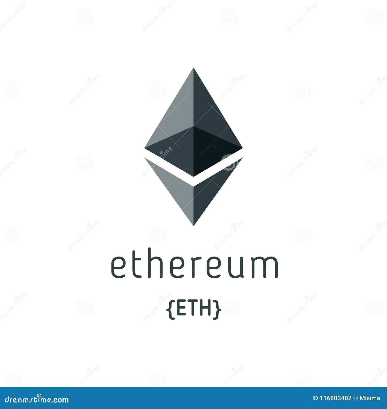 Icona di vettore di simbolo di Ethereum