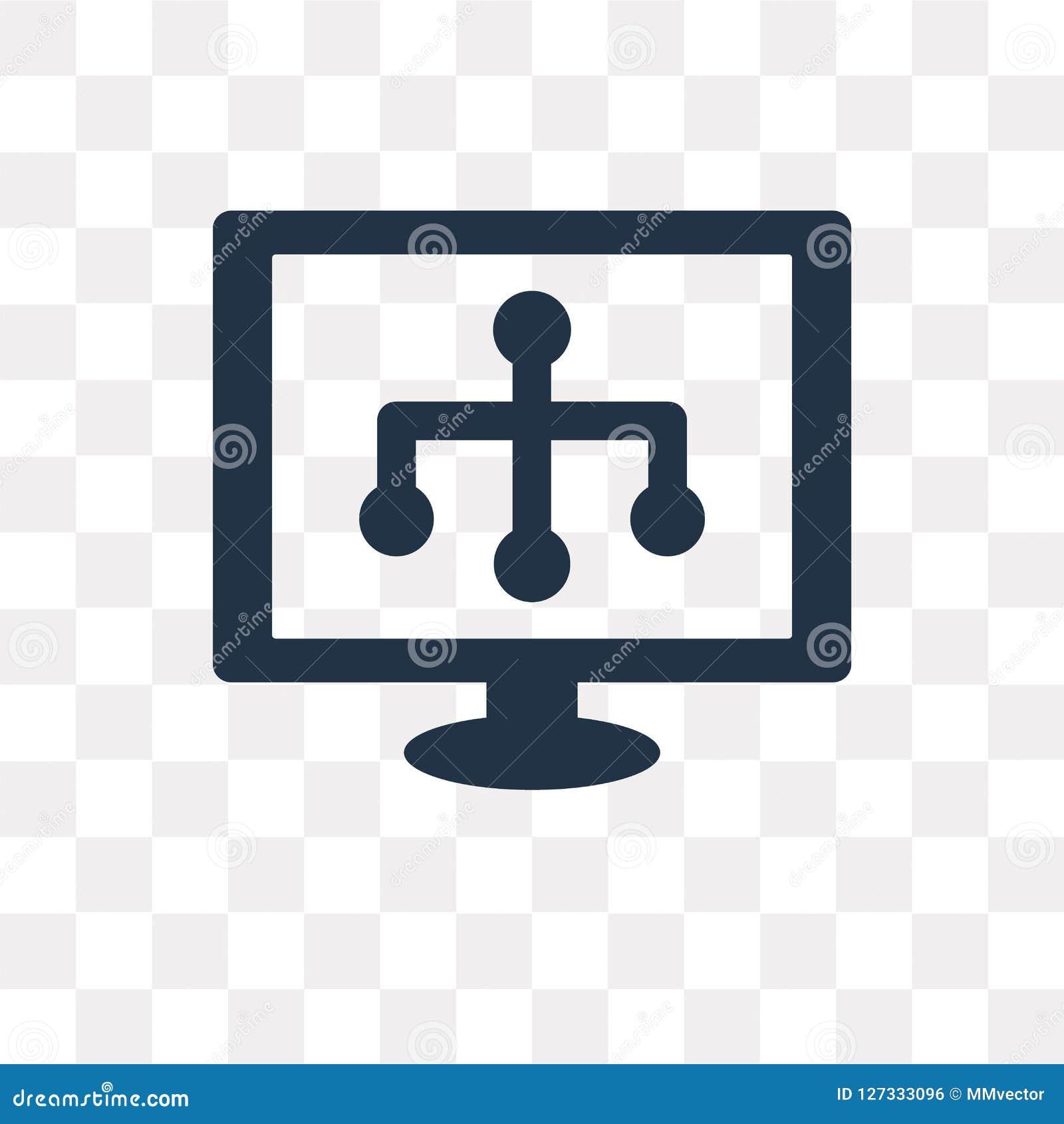Icona di vettore di Sitemap isolata su fondo trasparente, Sitemap