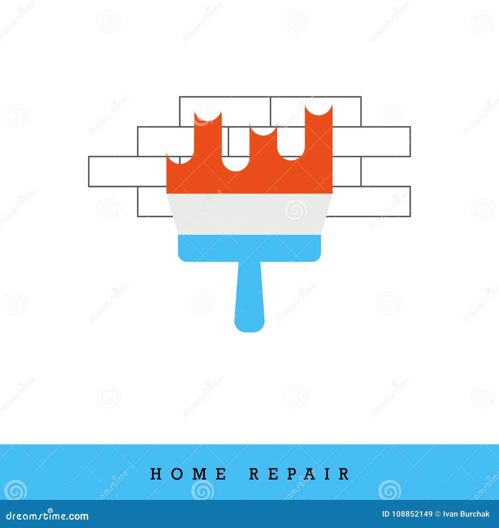 Icona domestica di vettore di riparazione