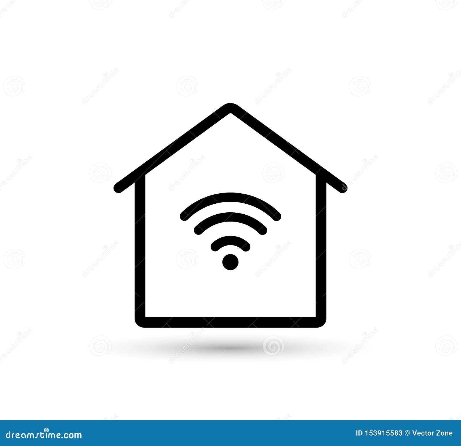 Icona domestica di WiFi Casa astuta