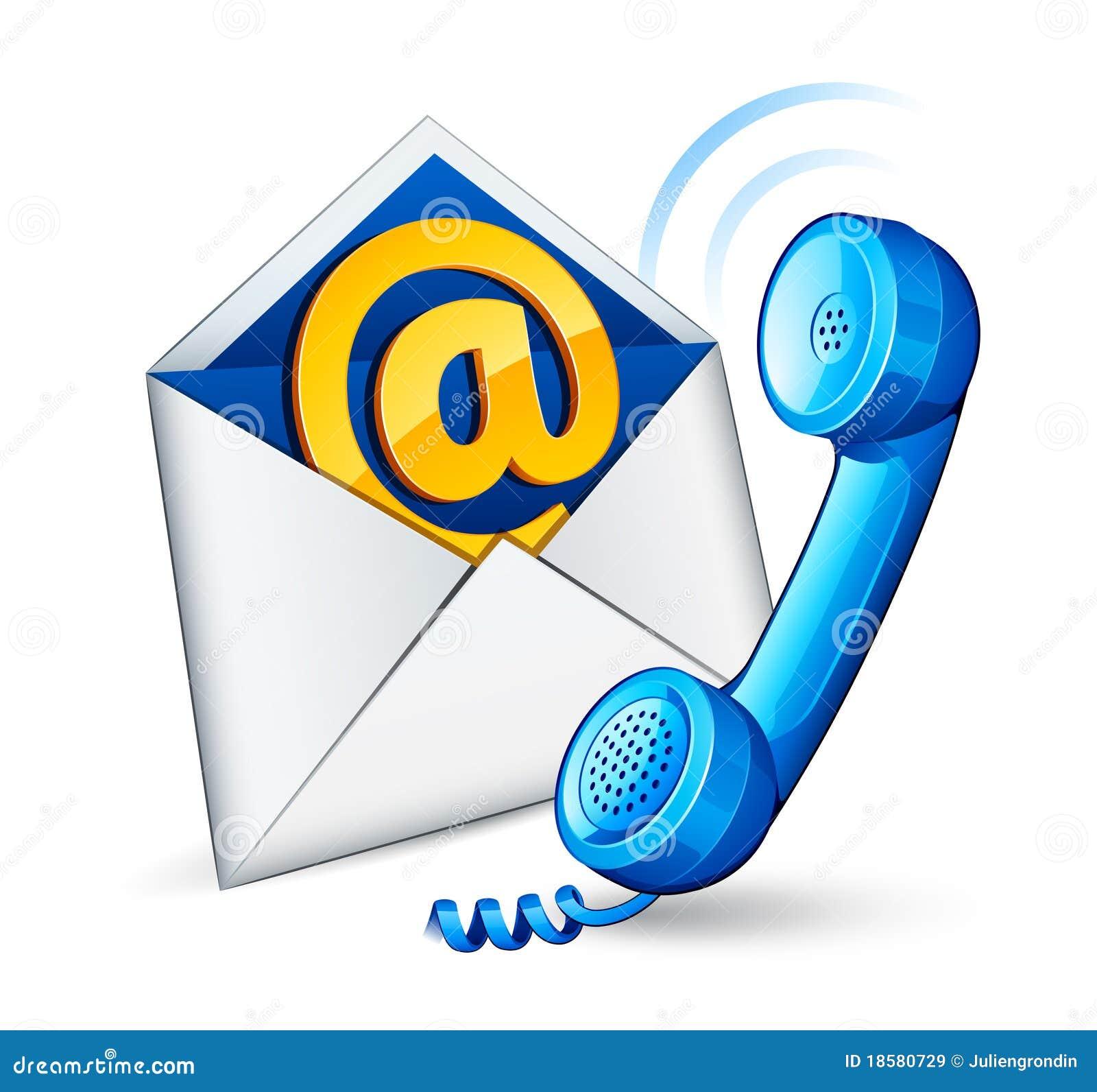 Icona e telefono del email