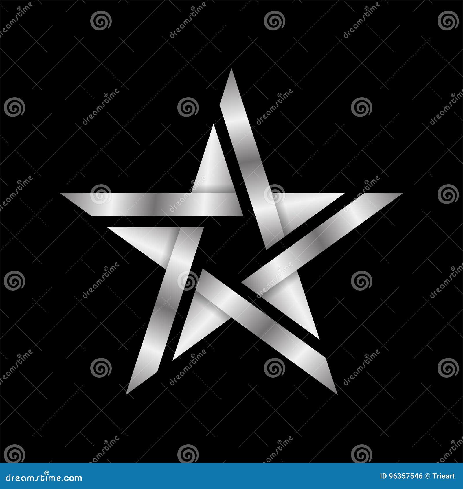 Icona elegante e moderna astratta di logo della stella dell argento di  stile isolata in utilizzabile nero per il logo della società e del capo bc05b3b486e1