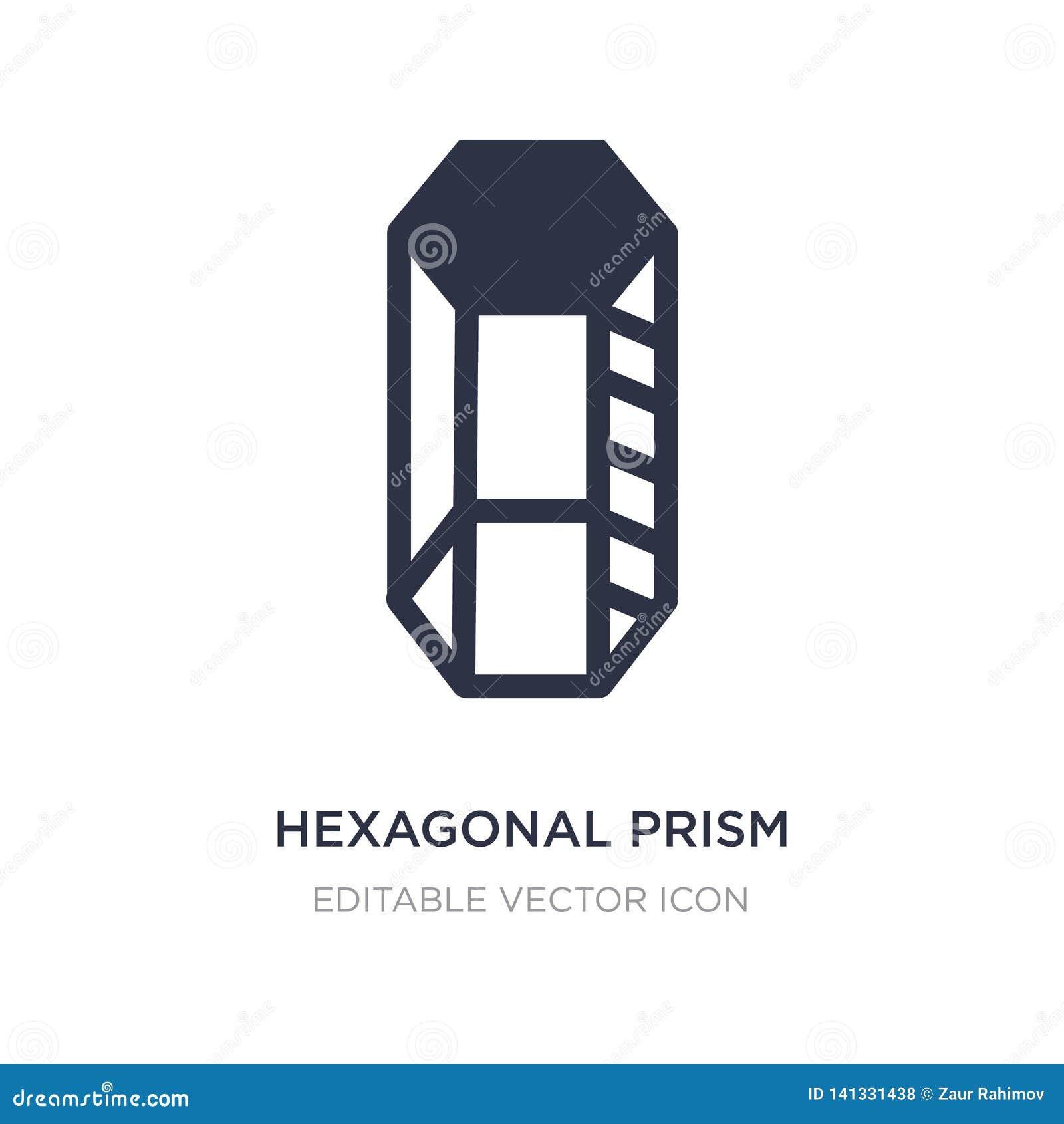 Icona esagonale del prisma su fondo bianco Illustrazione semplice dell elemento dal concetto di forme