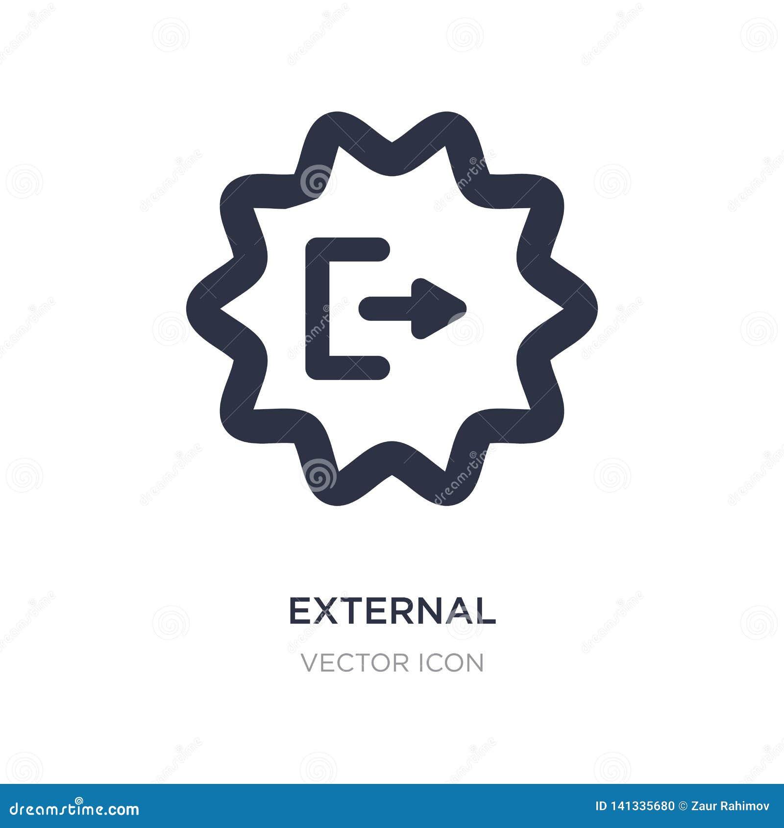 Icona esterna su fondo bianco Illustrazione semplice dell elemento dal concetto di UI