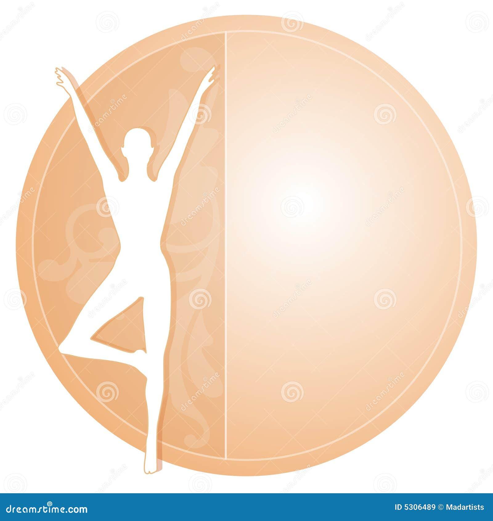 Download Icona Femminile Della Siluetta Di Yoga Illustrazione di Stock - Illustrazione di femmina, pink: 5306489