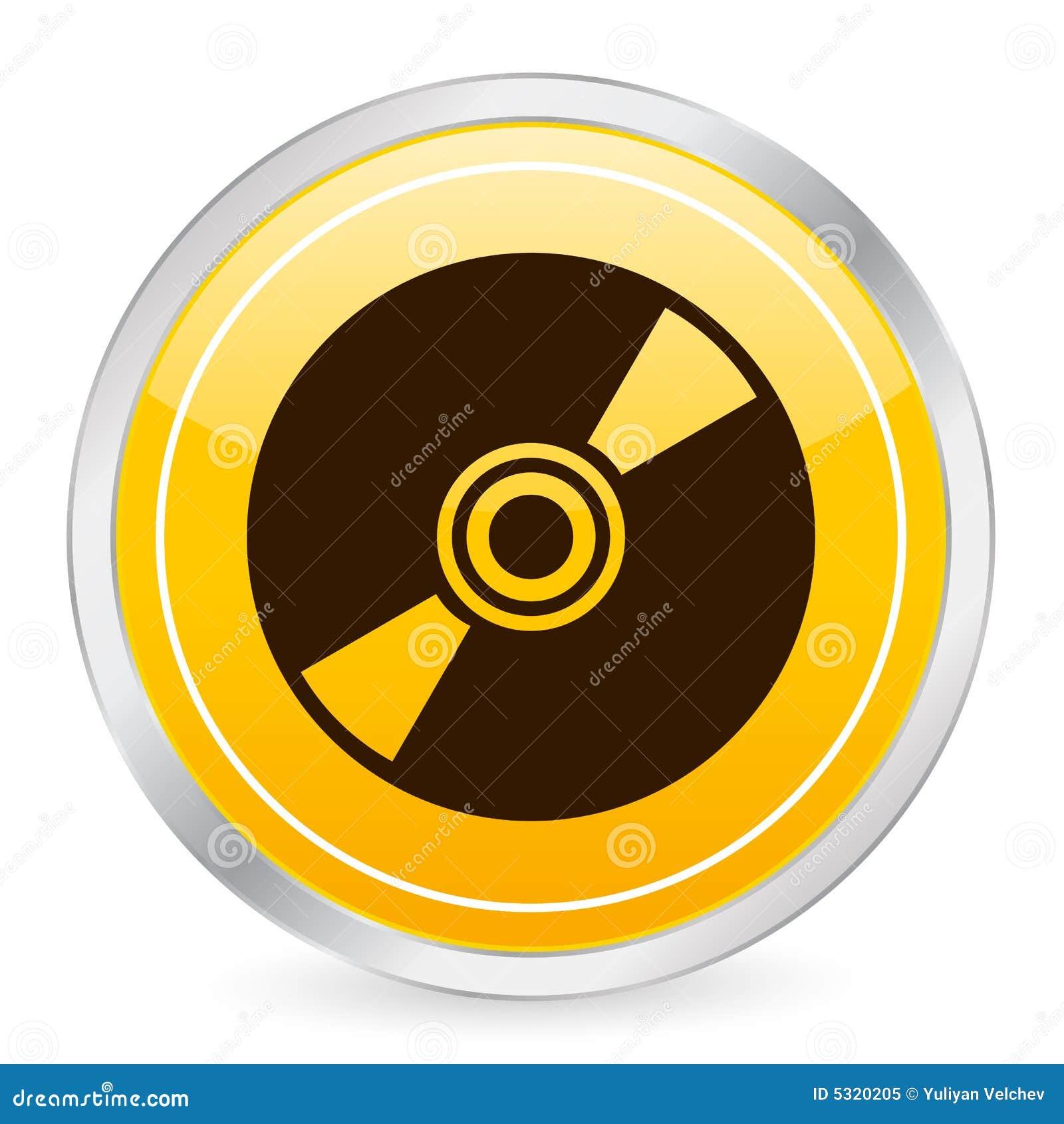 Download Icona Gialla CD Del Cerchio Illustrazione Vettoriale - Illustrazione di figura, tasto: 5320205