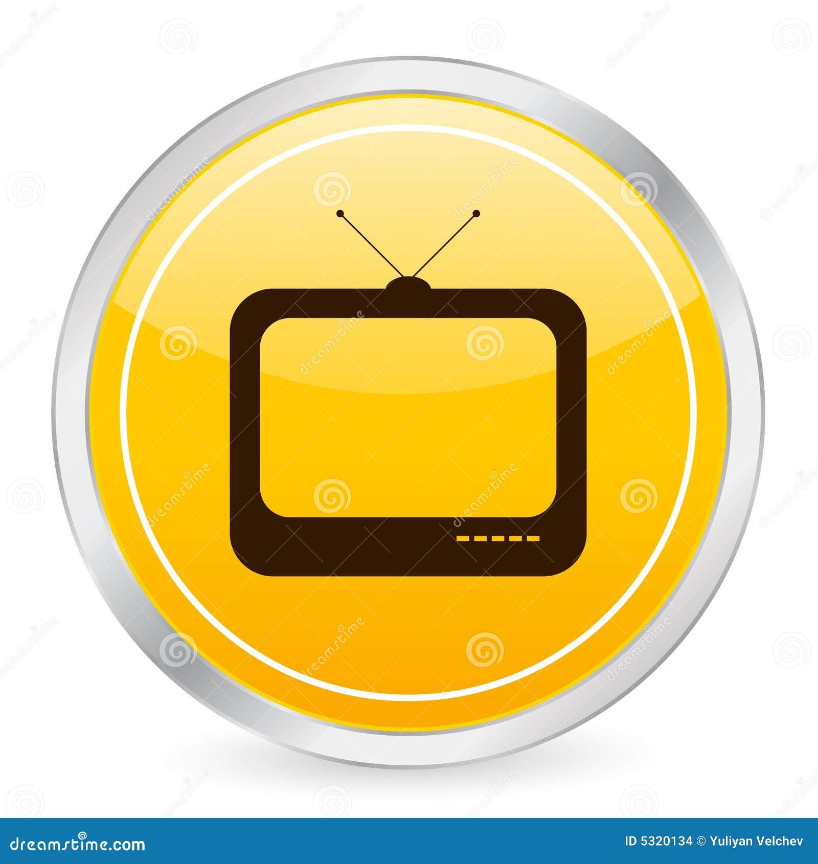 Download Icona Gialla Del Cerchio Della TV Illustrazione Vettoriale - Illustrazione di nearsighted, stile: 5320134