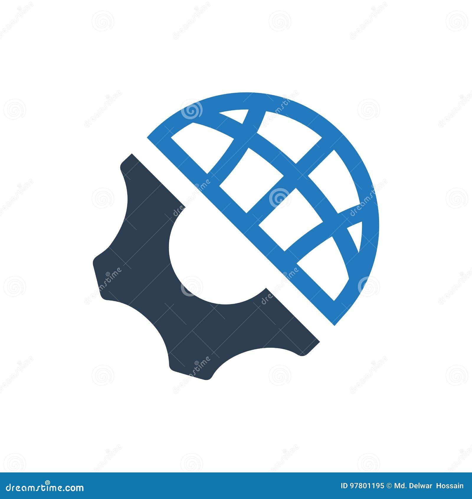 Icona globale di ingegneria