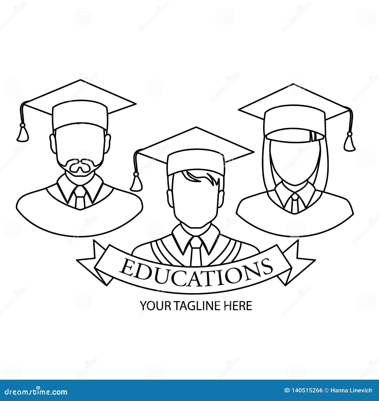 Icona graduata Progettazione lineare graduata di simbolo dalla raccolta della gente Illustrazione semplice di vettore dell elemen