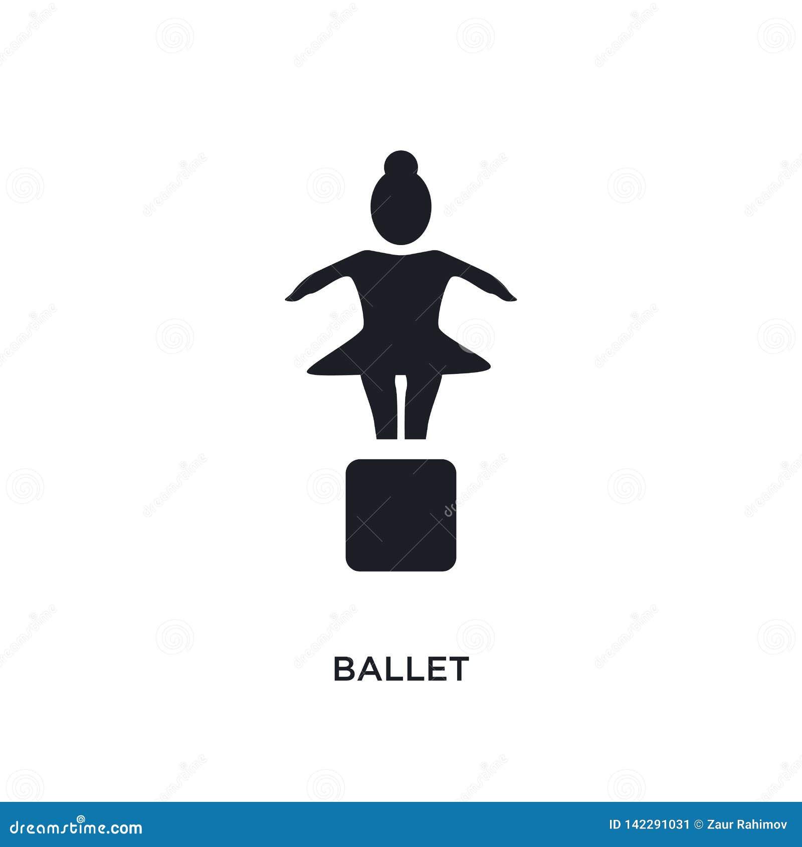 Icona isolata balletto illustrazione semplice dell elemento dalle icone di concetto del museo progettazione editabile di simbolo