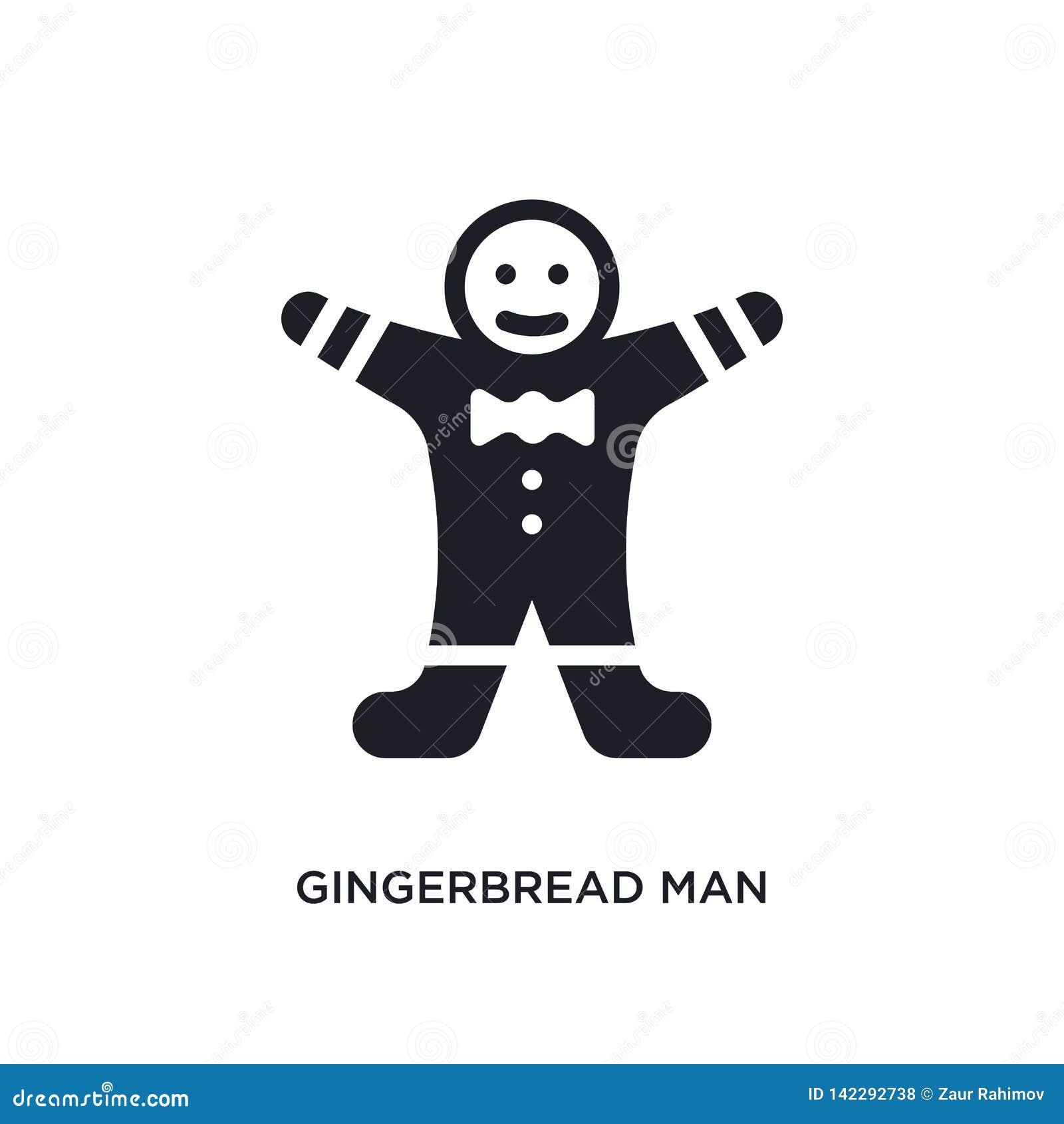 Icona isolata dell uomo di pan di zenzero illustrazione semplice dell elemento dalle icone di concetto di inverno simbolo editabi