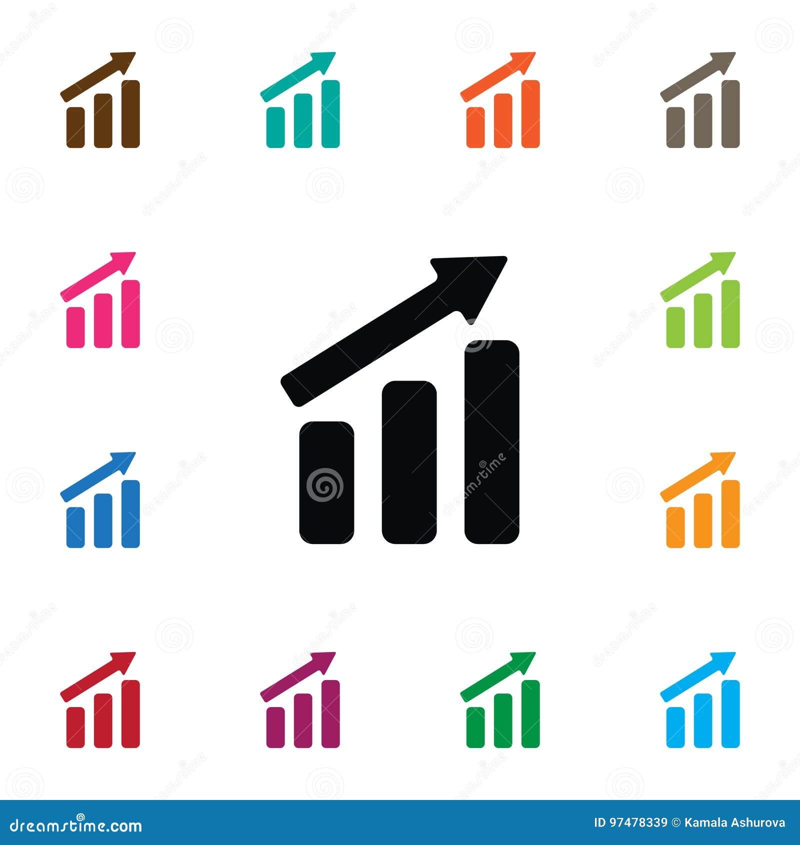 Icona isolata di aumento L elemento di vettore di progresso può essere usato per progresso, l aumento, concetto di progetto della