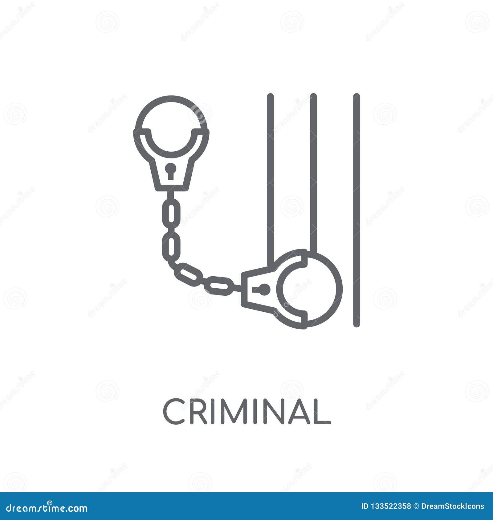Icona lineare criminale Concetto criminale di logo del profilo moderno su wh