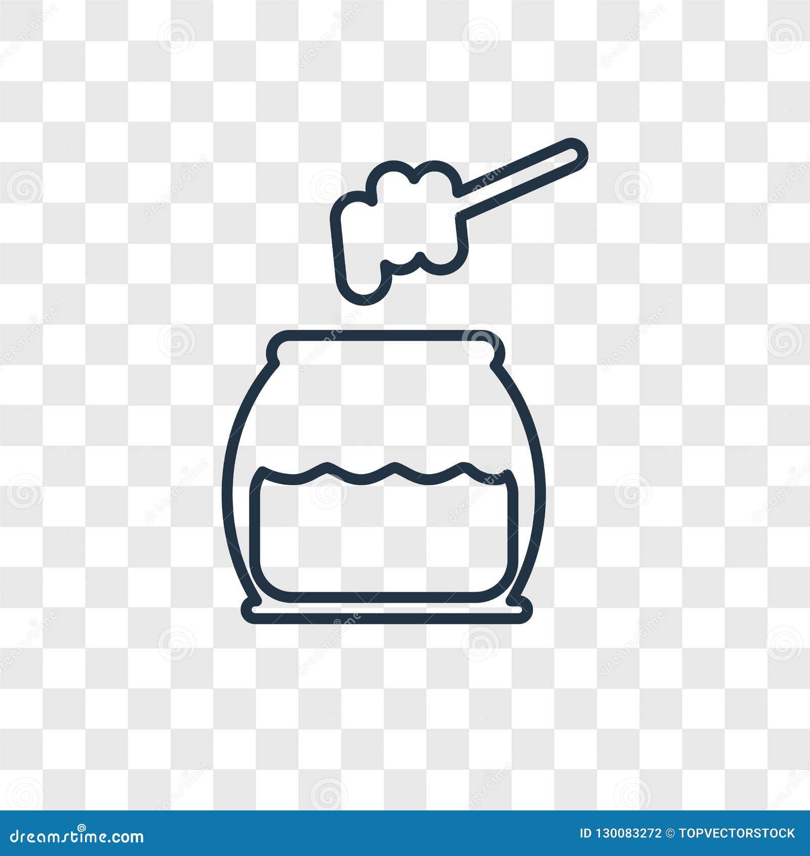 Icona lineare di vettore di concetto del miele isolata sul backgro trasparente