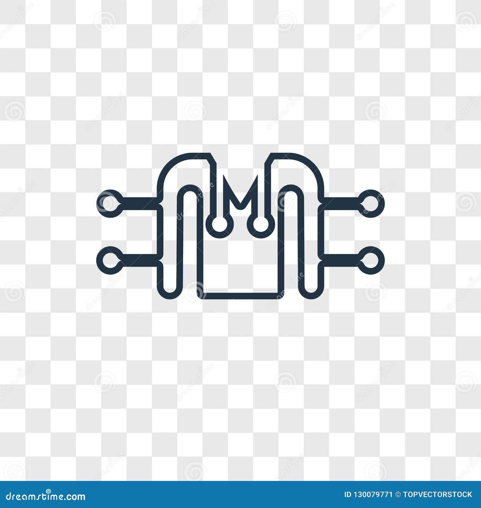 Icona lineare di vettore di concetto del rivestimento isolata su backgr trasparente