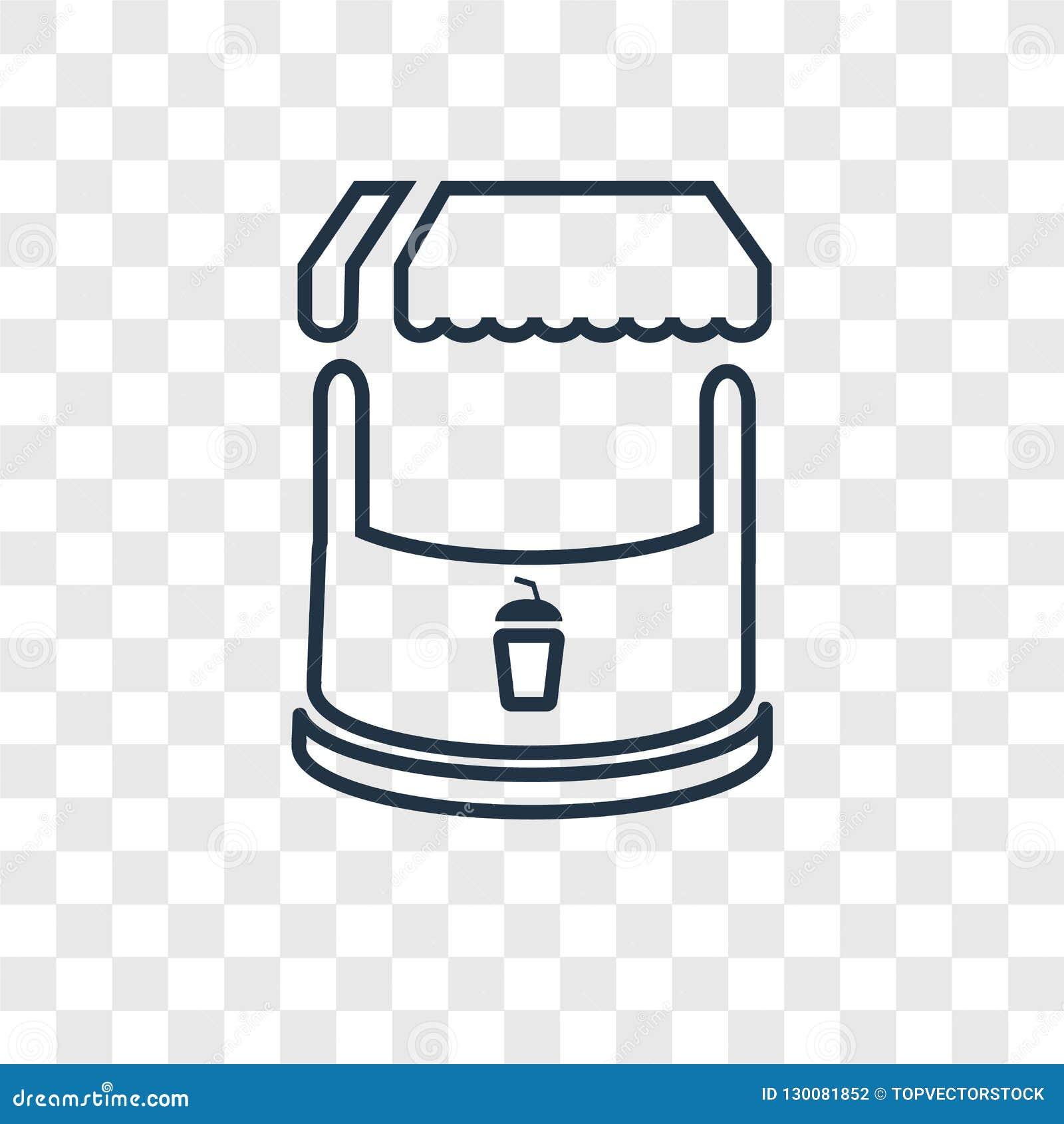 Icona lineare di vettore di concetto del supporto isolata sul backgro trasparente