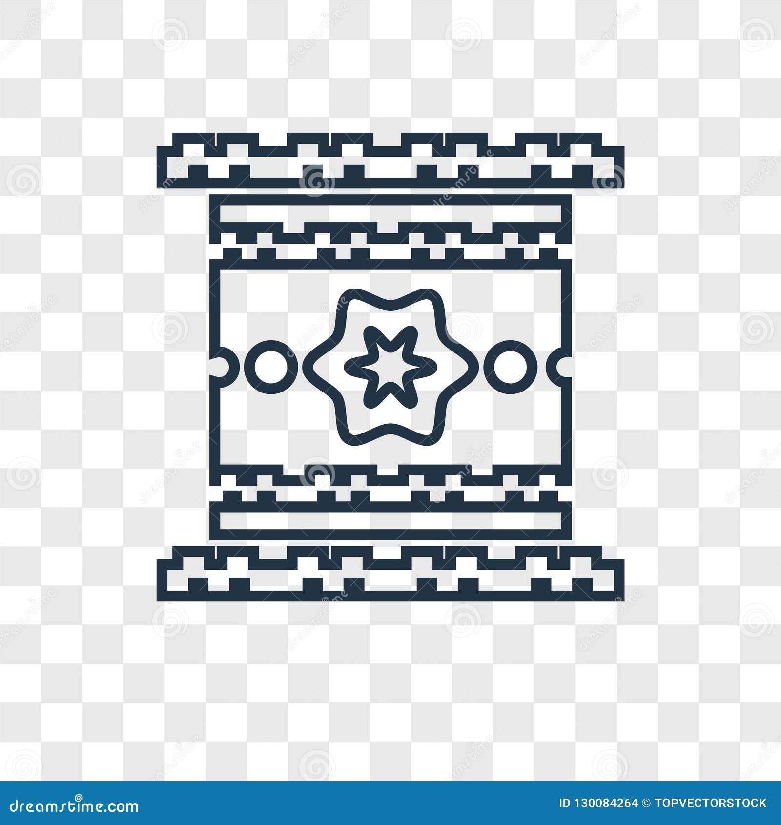 Icona lineare di vettore di concetto dell Egitto isolata sul backgro trasparente