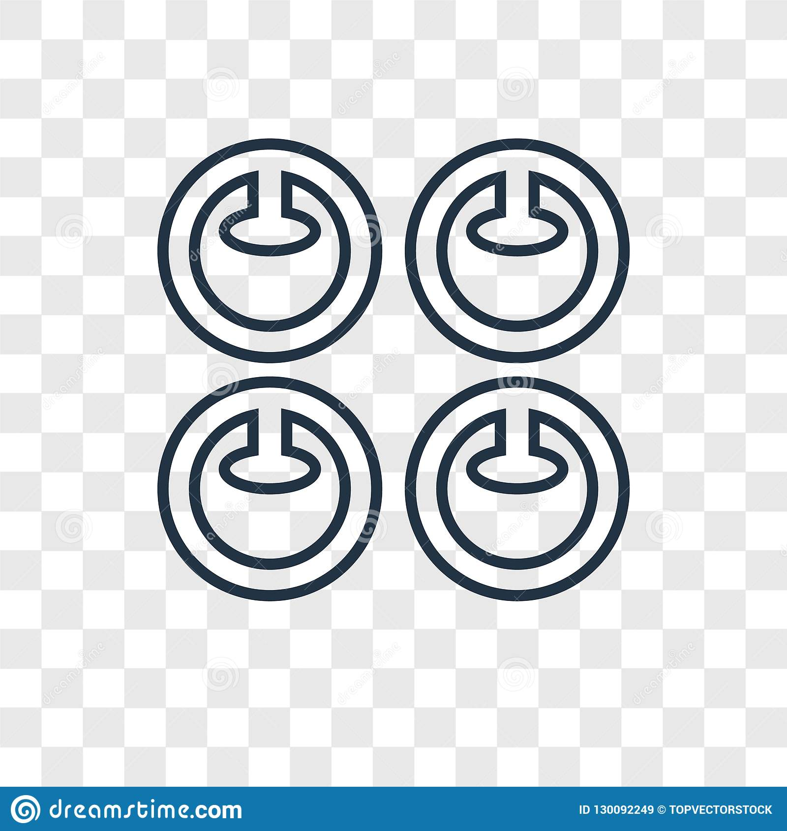 Icona lineare di vettore di concetto di impegno isolata sulle sedere trasparenti