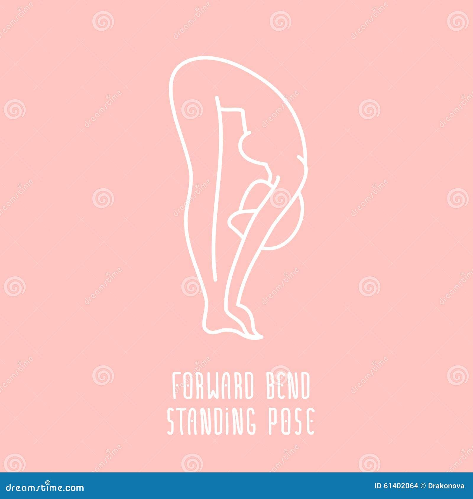 Icona lineare di yoga