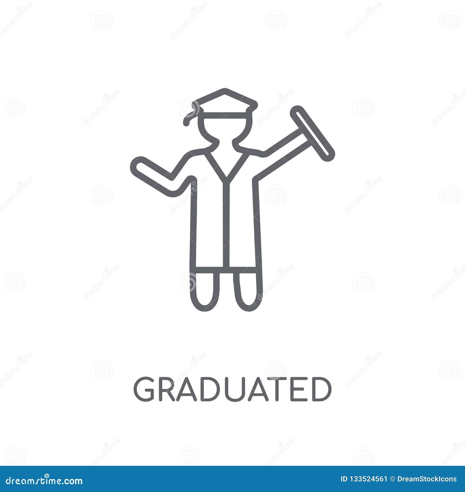 Icona lineare graduata Concetto graduato di logo del profilo moderno sopra