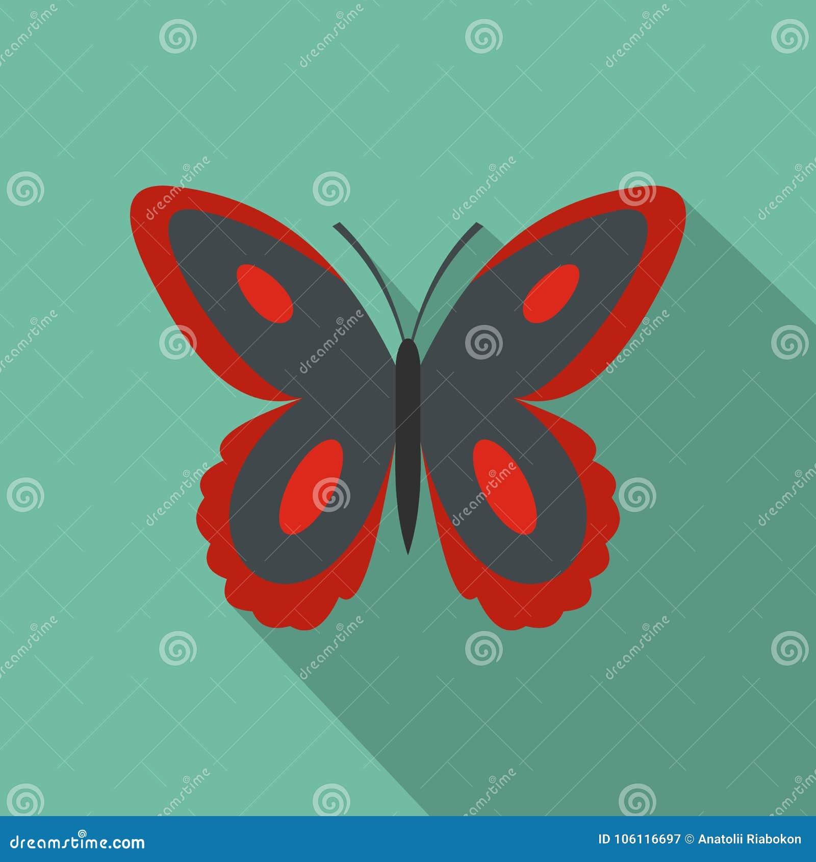 Icona macchiata della farfalla, stile piano