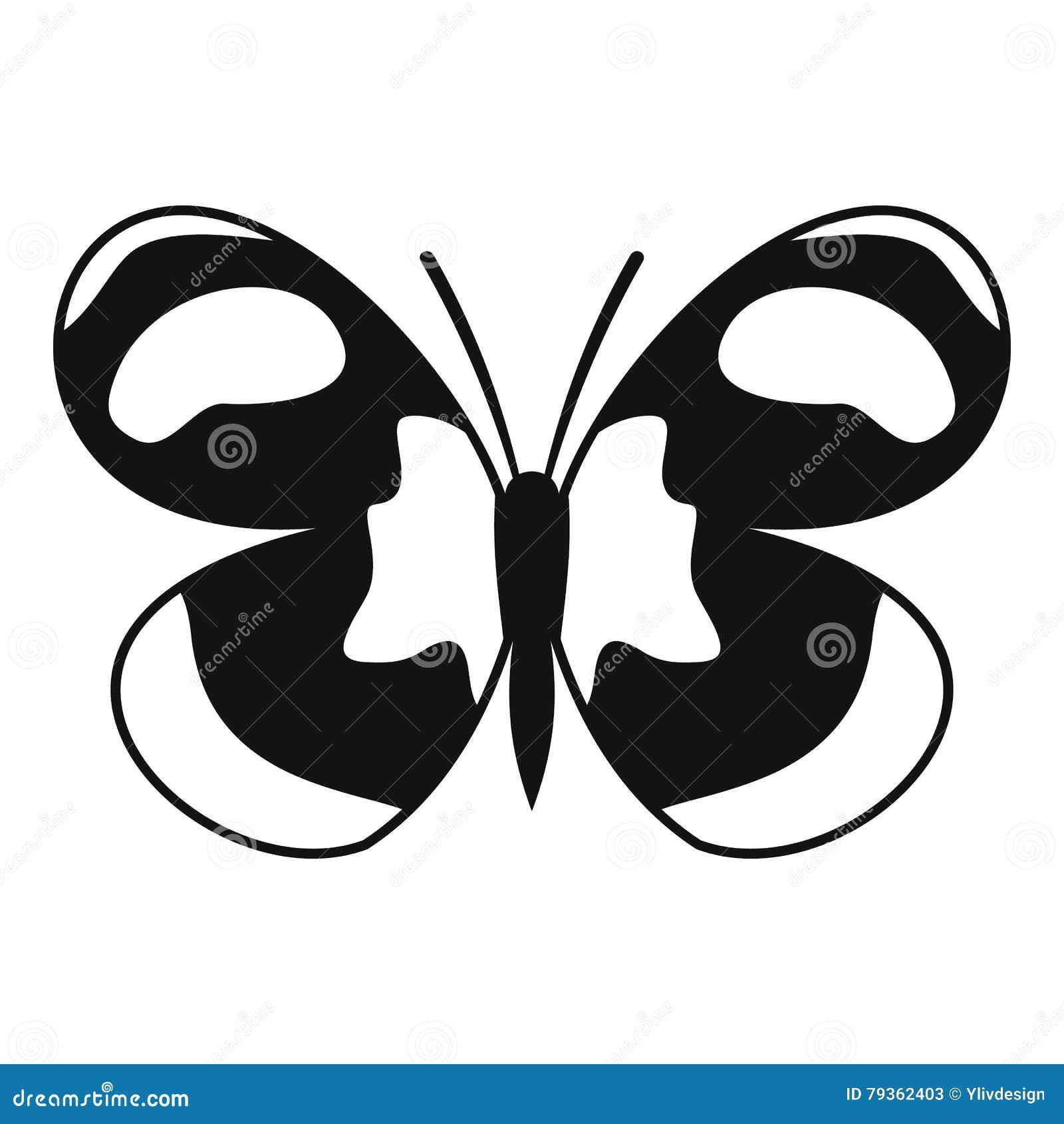 Icona macchiata della farfalla, stile semplice