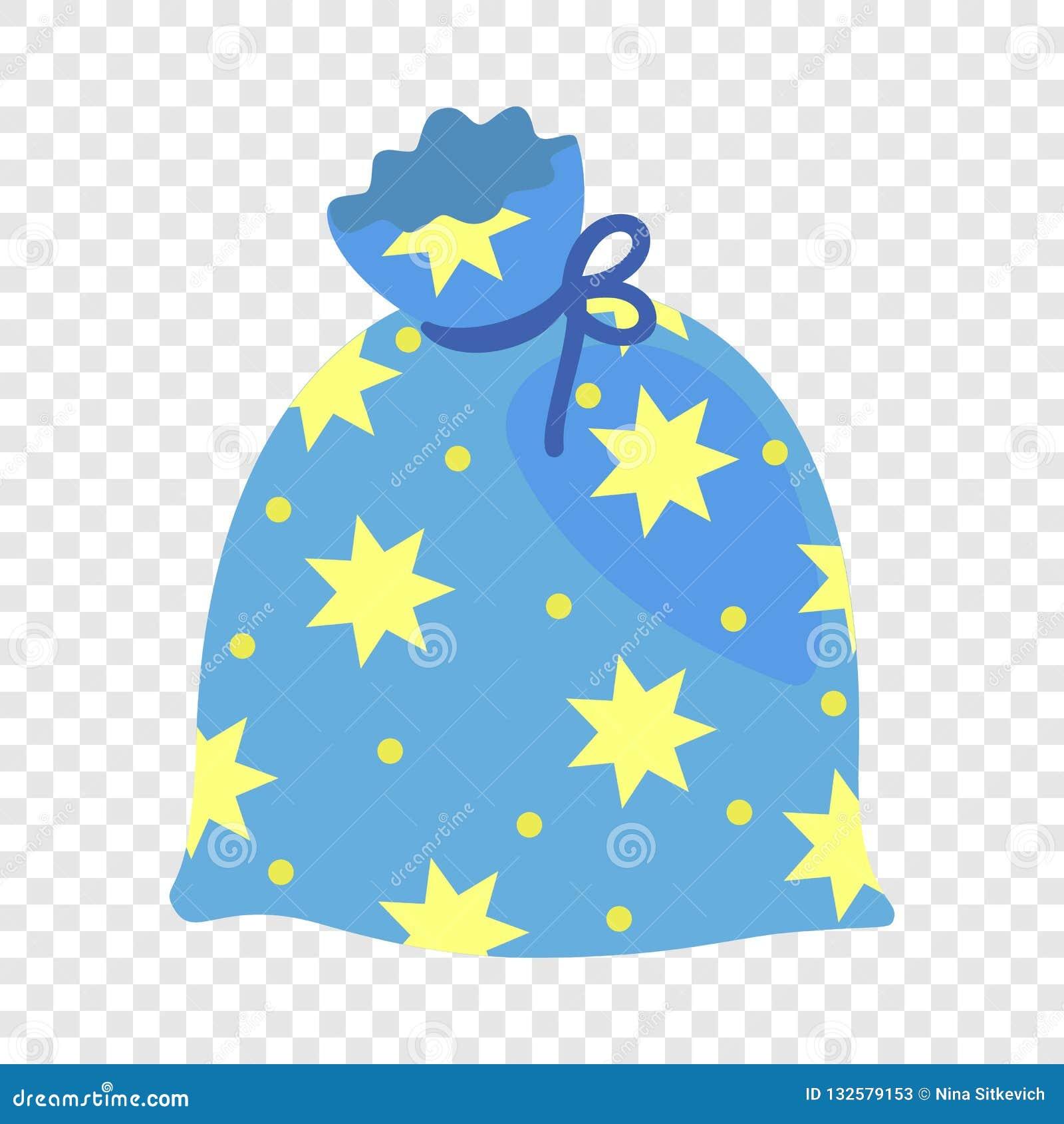 Icona magica della borsa della stella, stile piano
