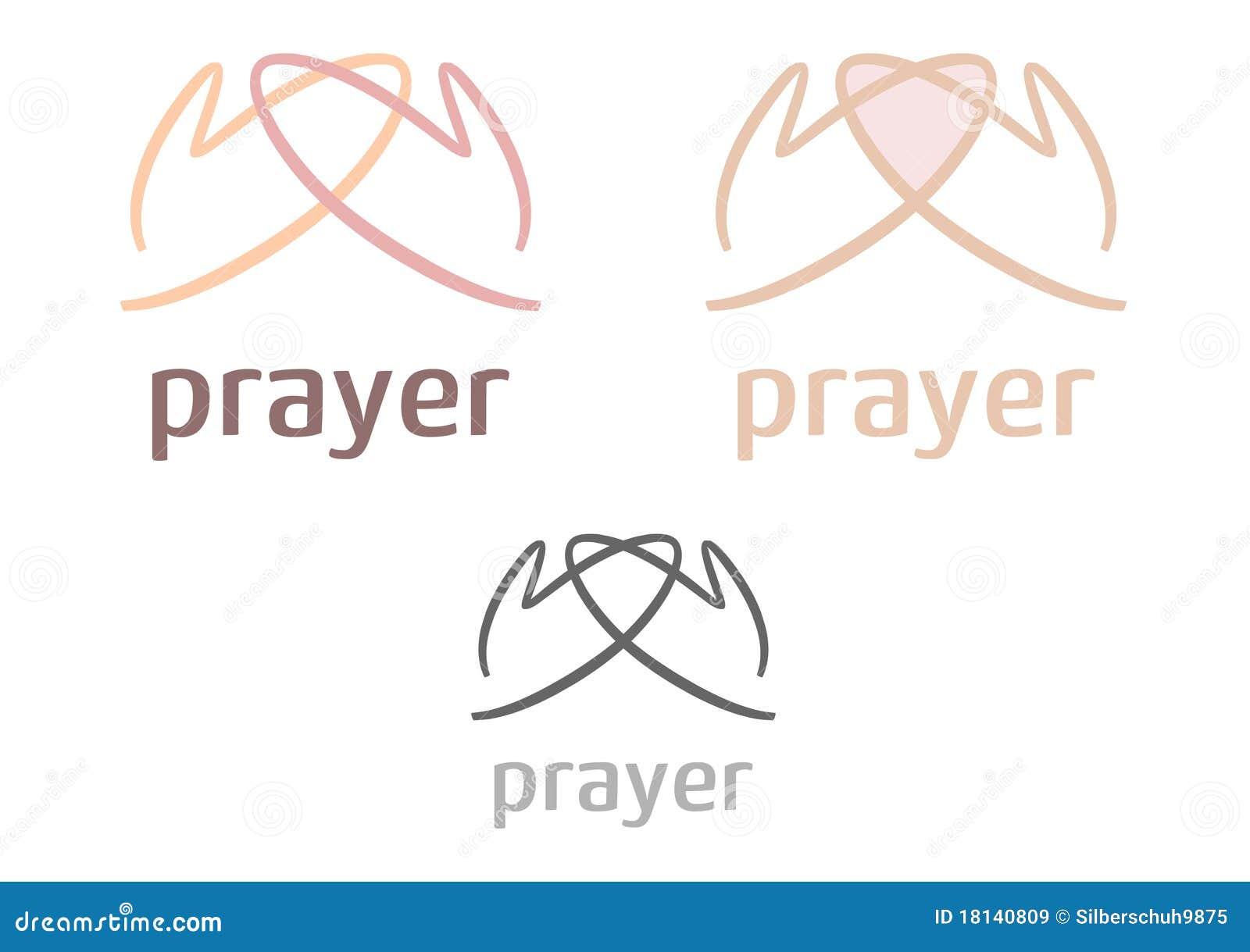 Icona/marchio semplici di preghiera