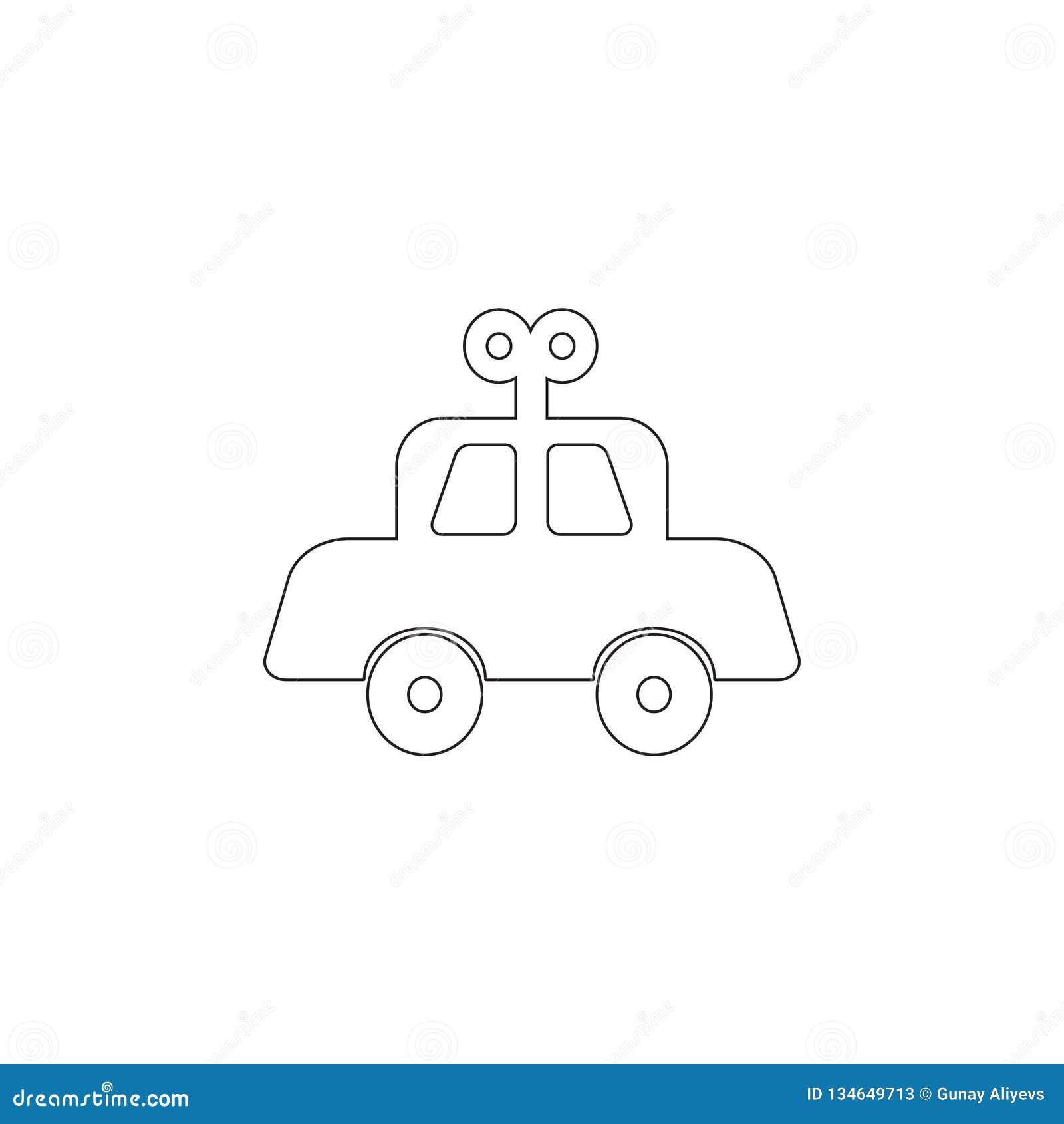 Icona meccanica del giocattolo del bambino dell automobile Icona dell elemento del giocattolo Icona premio di progettazione grafi
