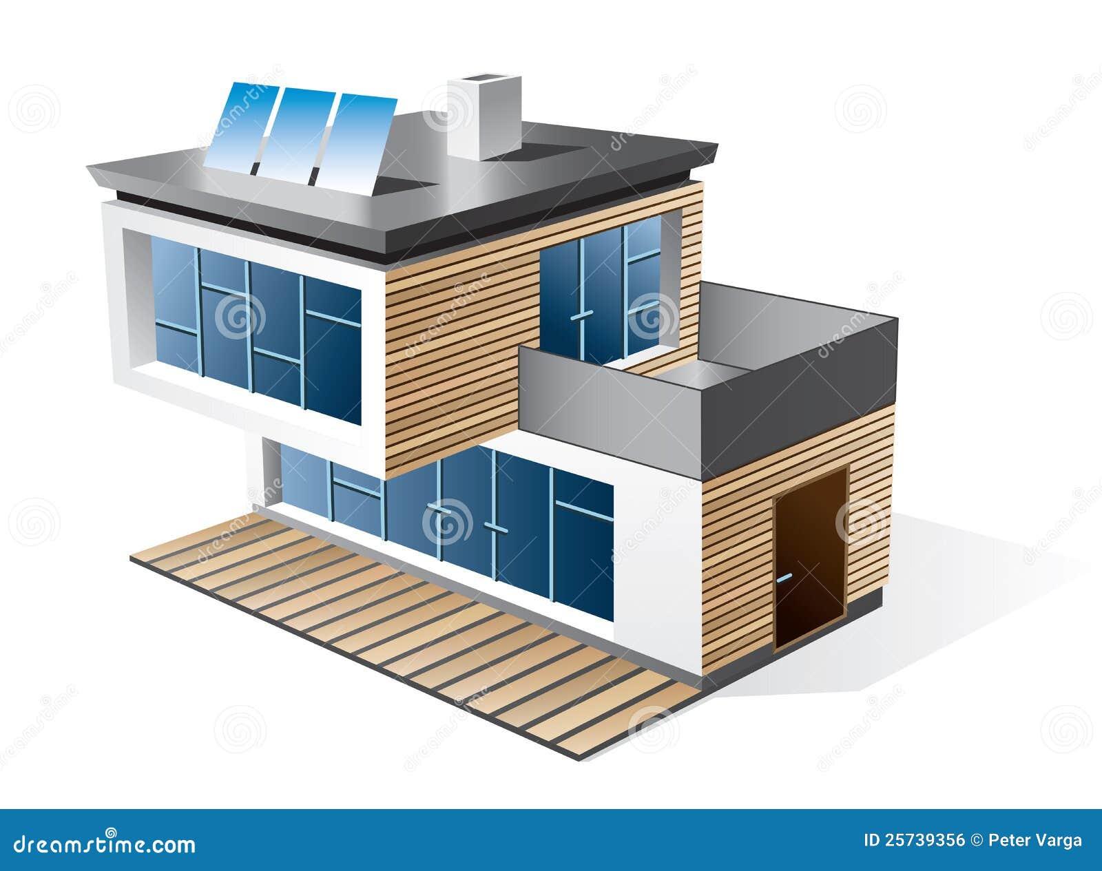Icona moderna della casa della famiglia illustrazione for Planimetrie della casa ultra moderna