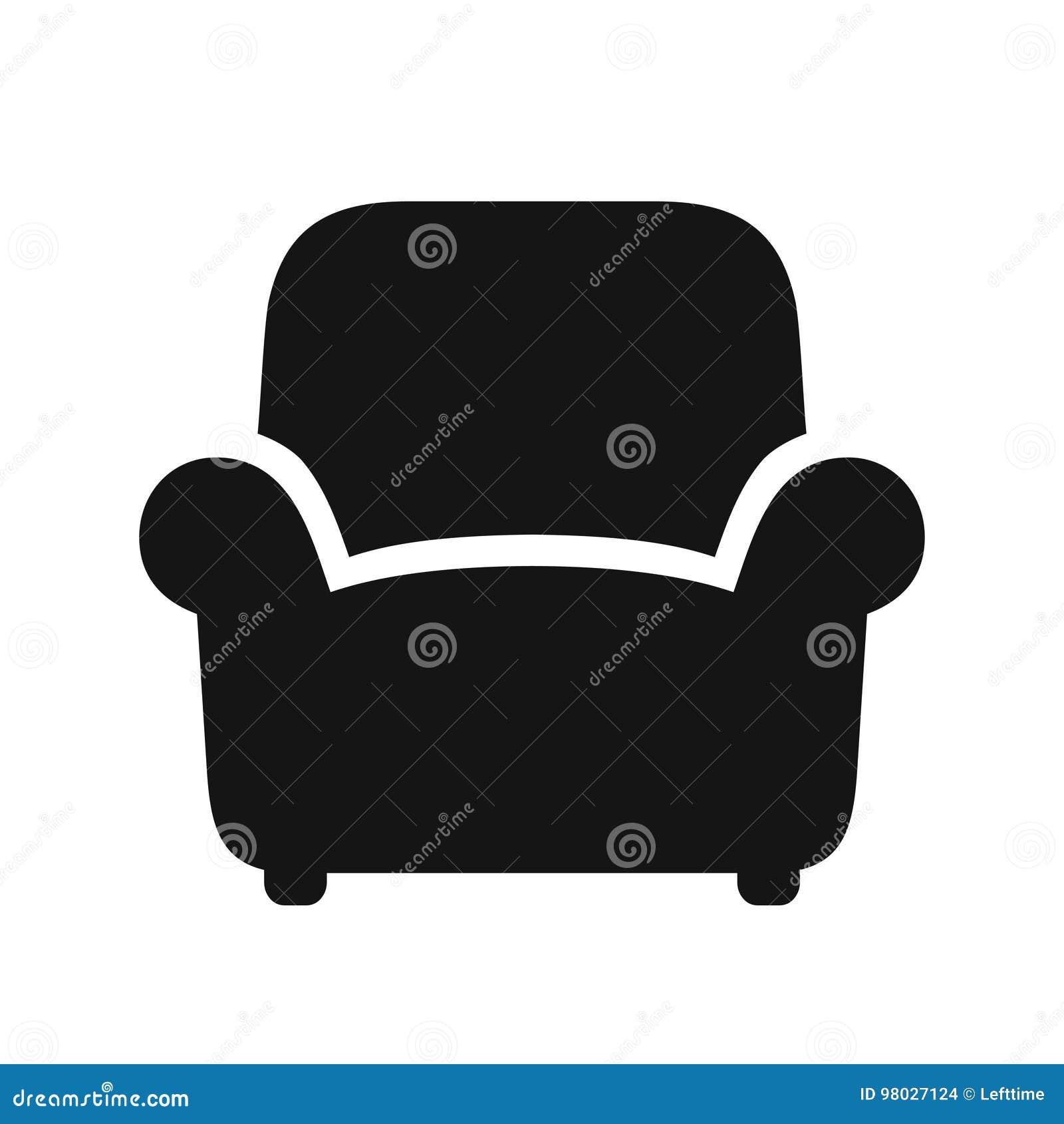 Icona nera della poltrona