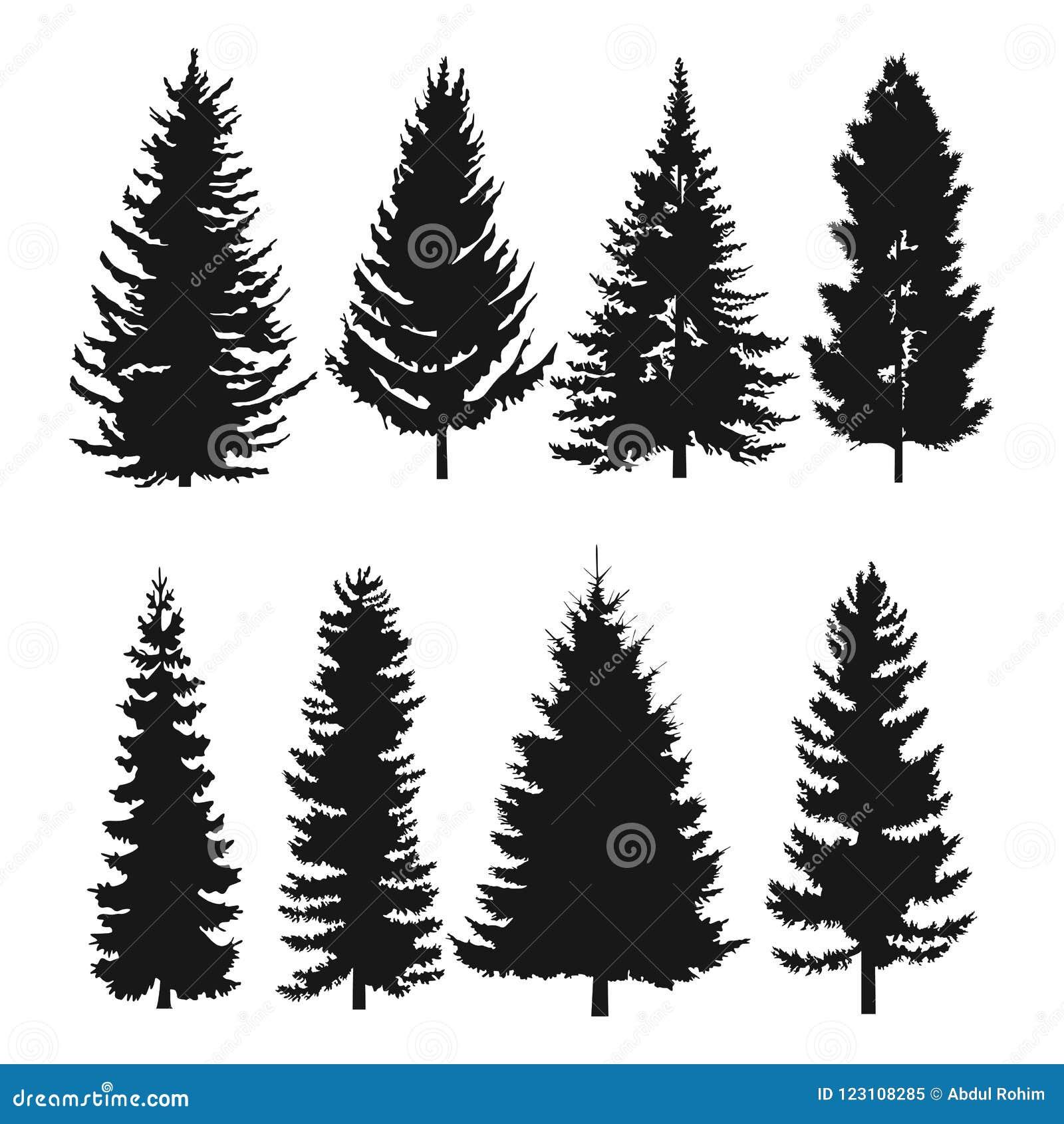Icona piana del pino