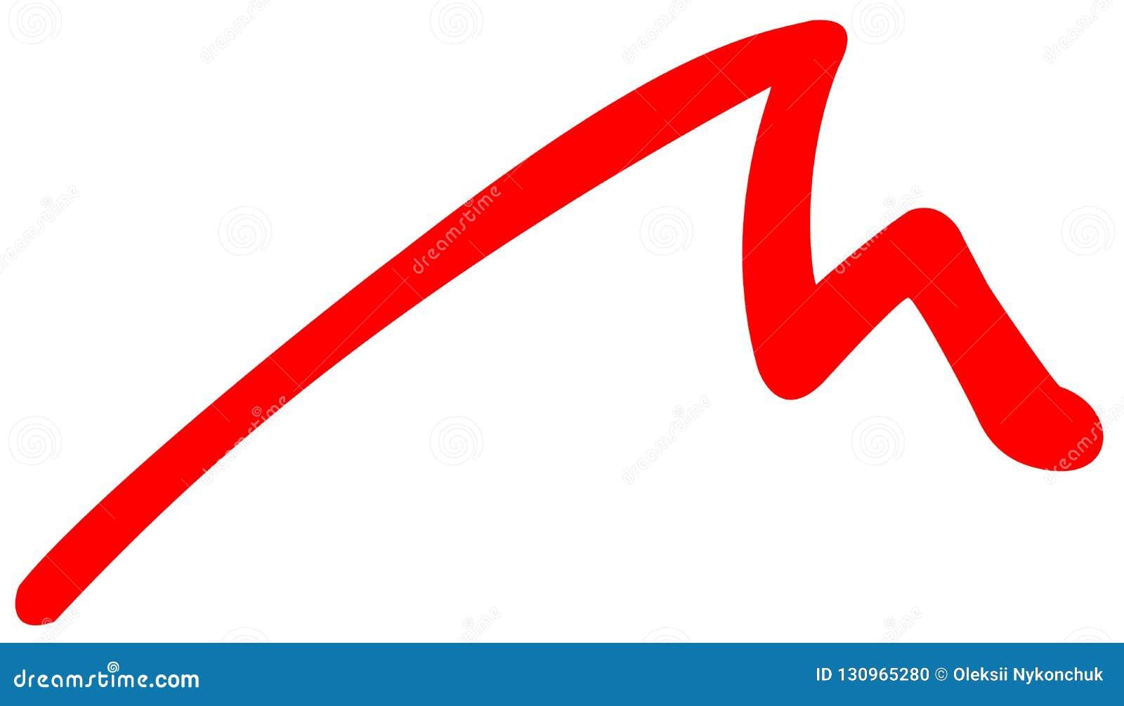 Icona piana delle montagne rosse su fondo bianco