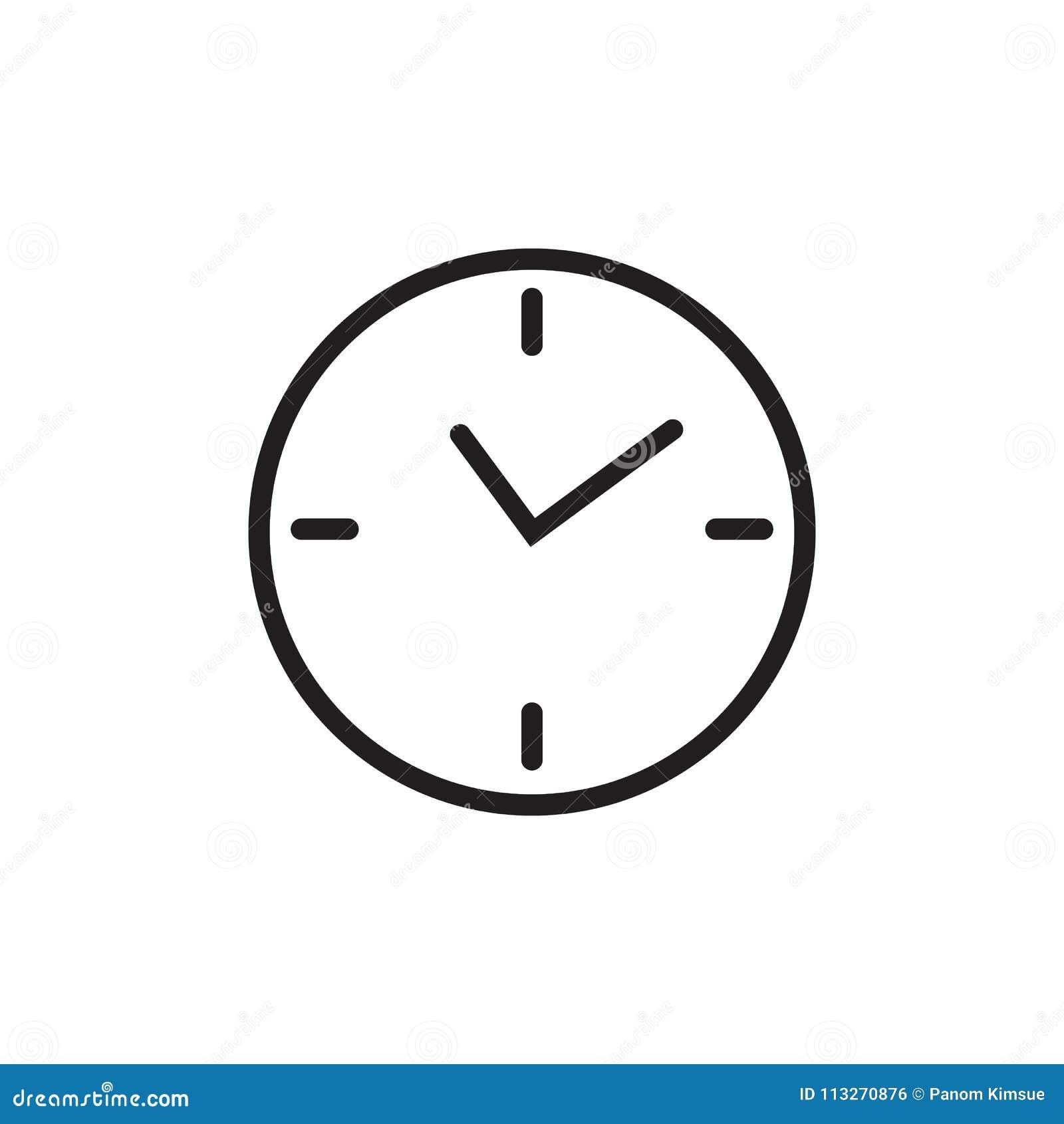 Icona piana di vettore dell 39 orologio isolata su fondo for Logo sito web