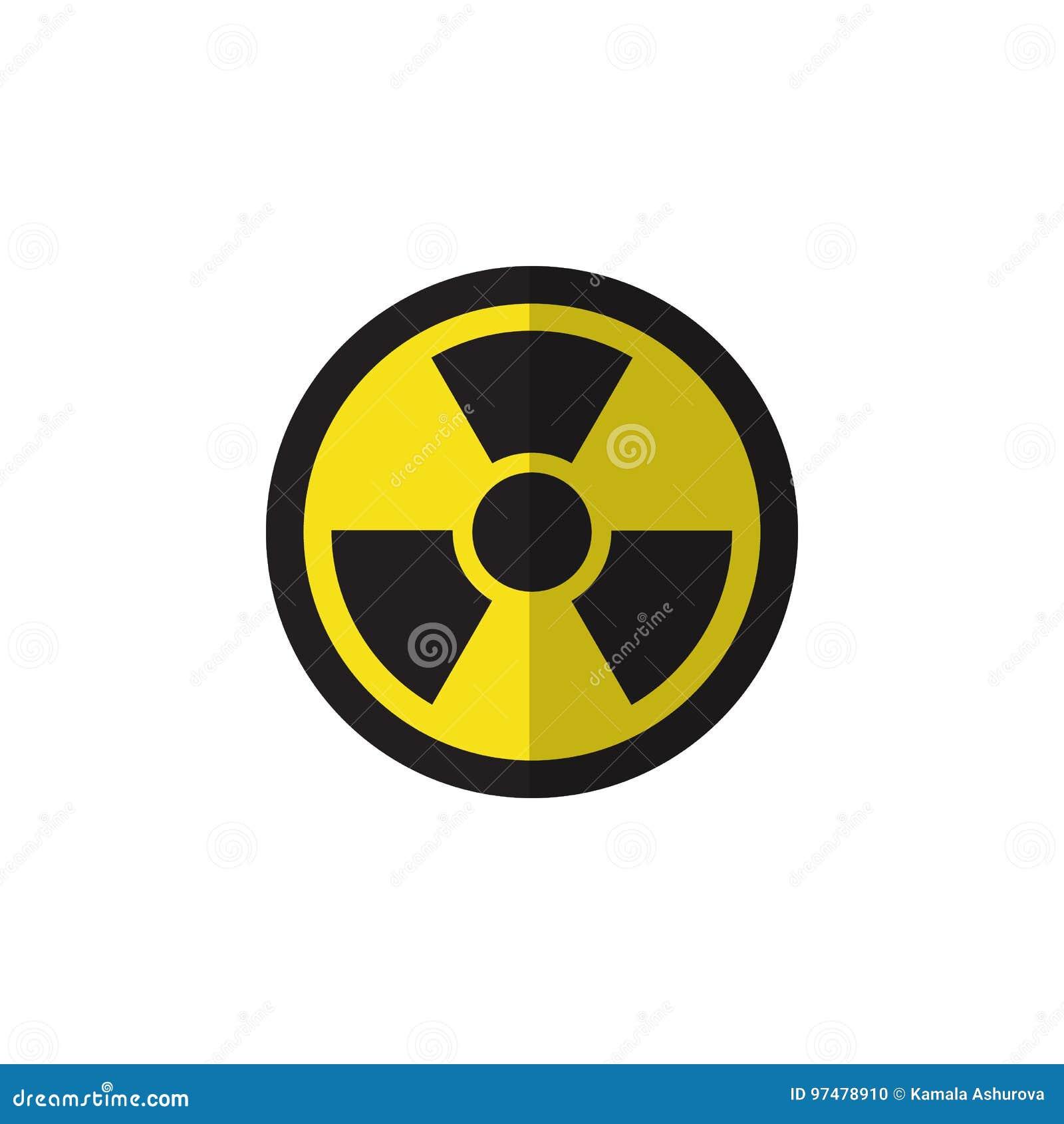 Icona piana isolata di radiazione L elemento di vettore di irradiamento può essere usato per irradiamento, la radiazione, progett