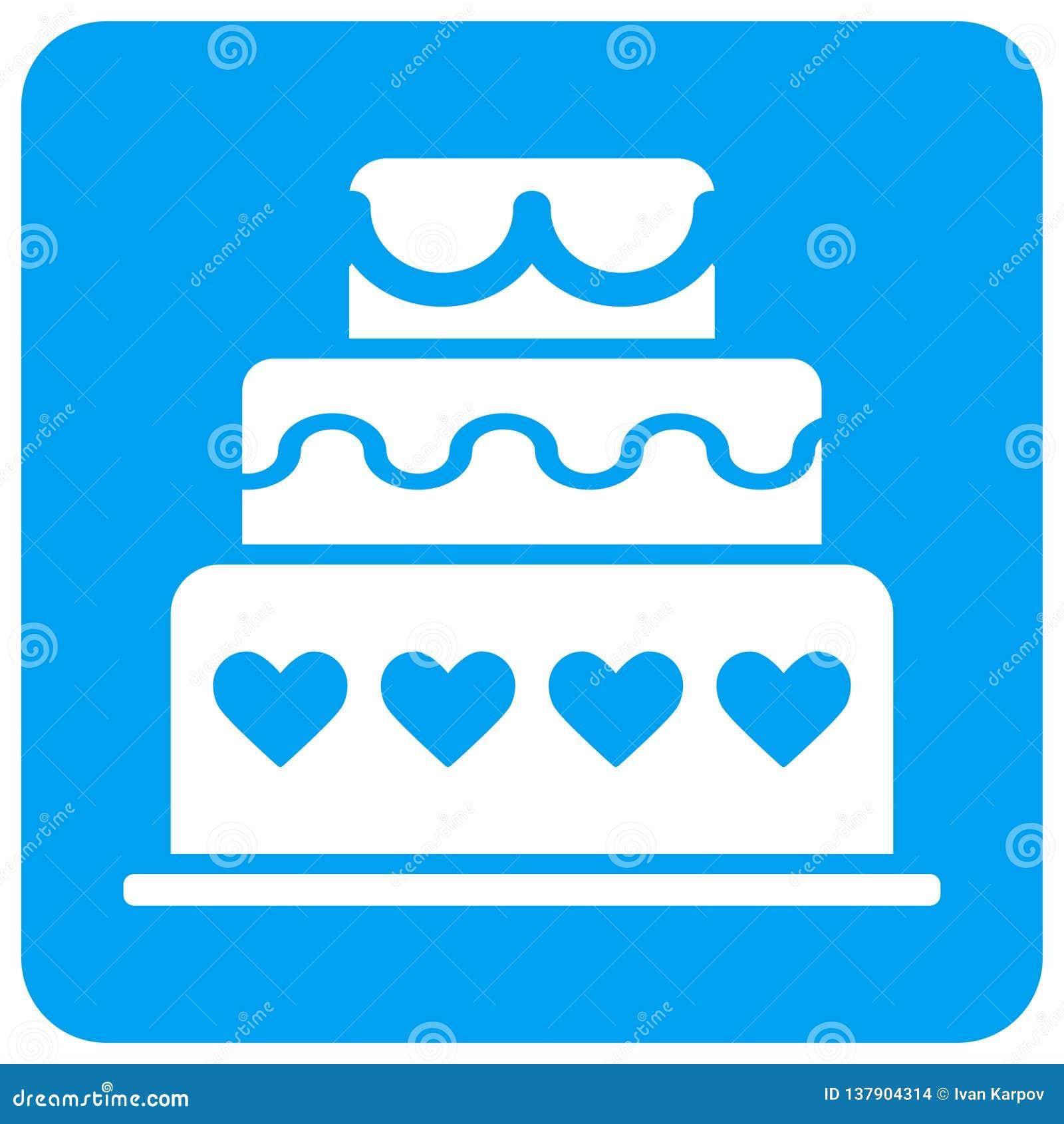 Icona quadrata del quadro televisivo arrotondata dolce di matrimonio
